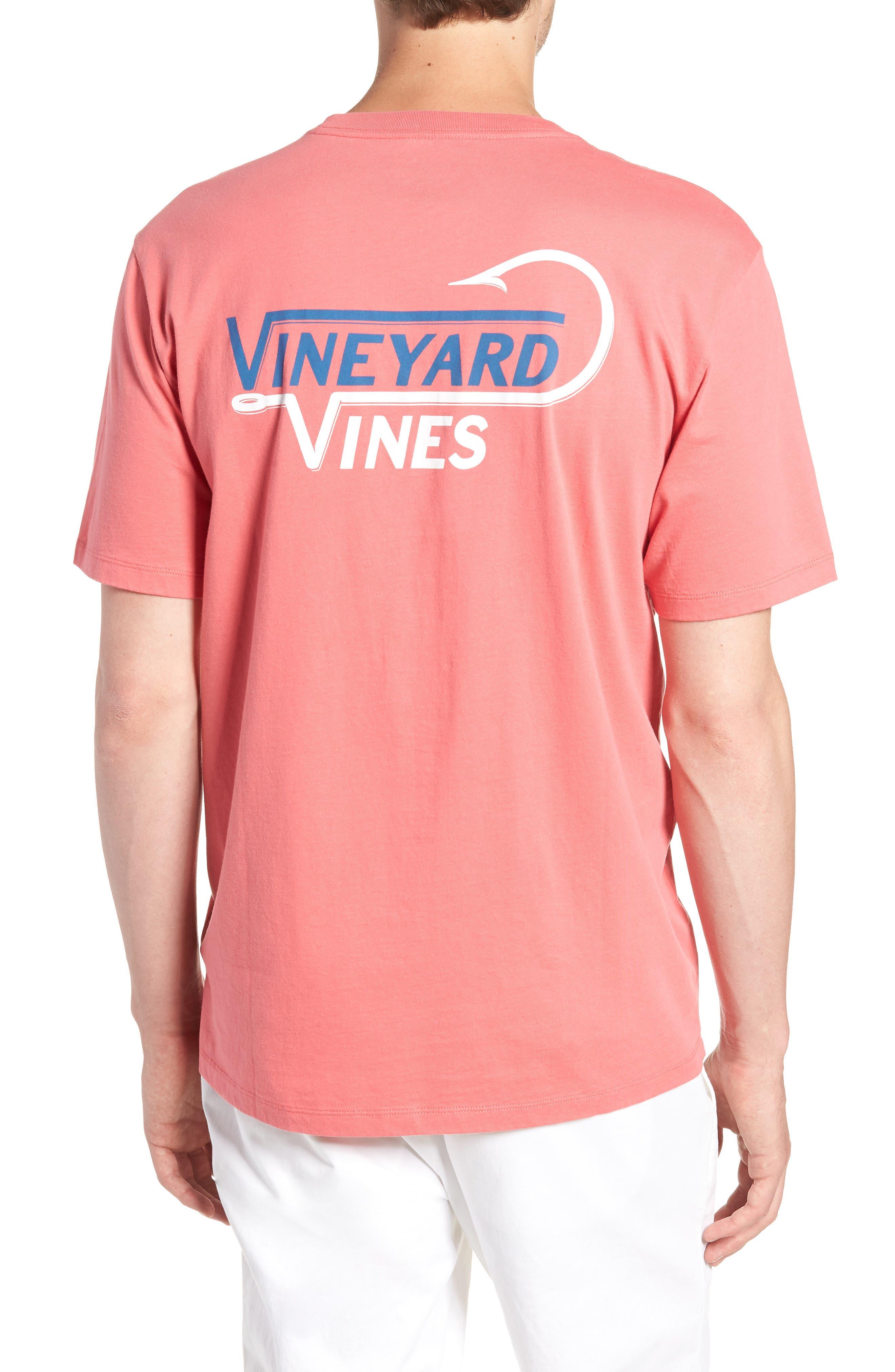 Vineyard Hook Regular Fit Crewneck T-Shirt,                             Alternate thumbnail 2, color,                             Jetty Red