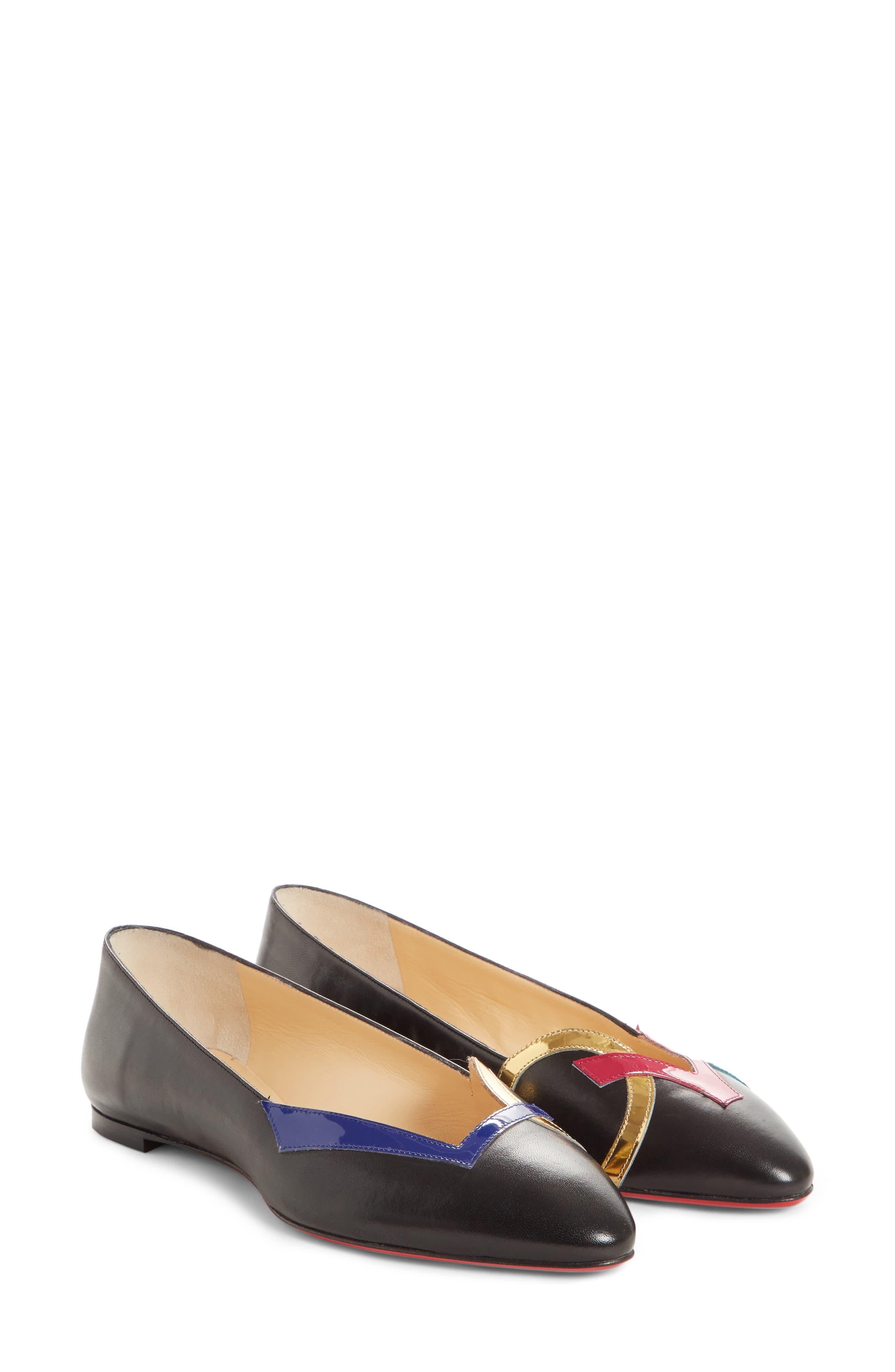 Love Ballet Flats,                         Main,                         color, Black/ Red