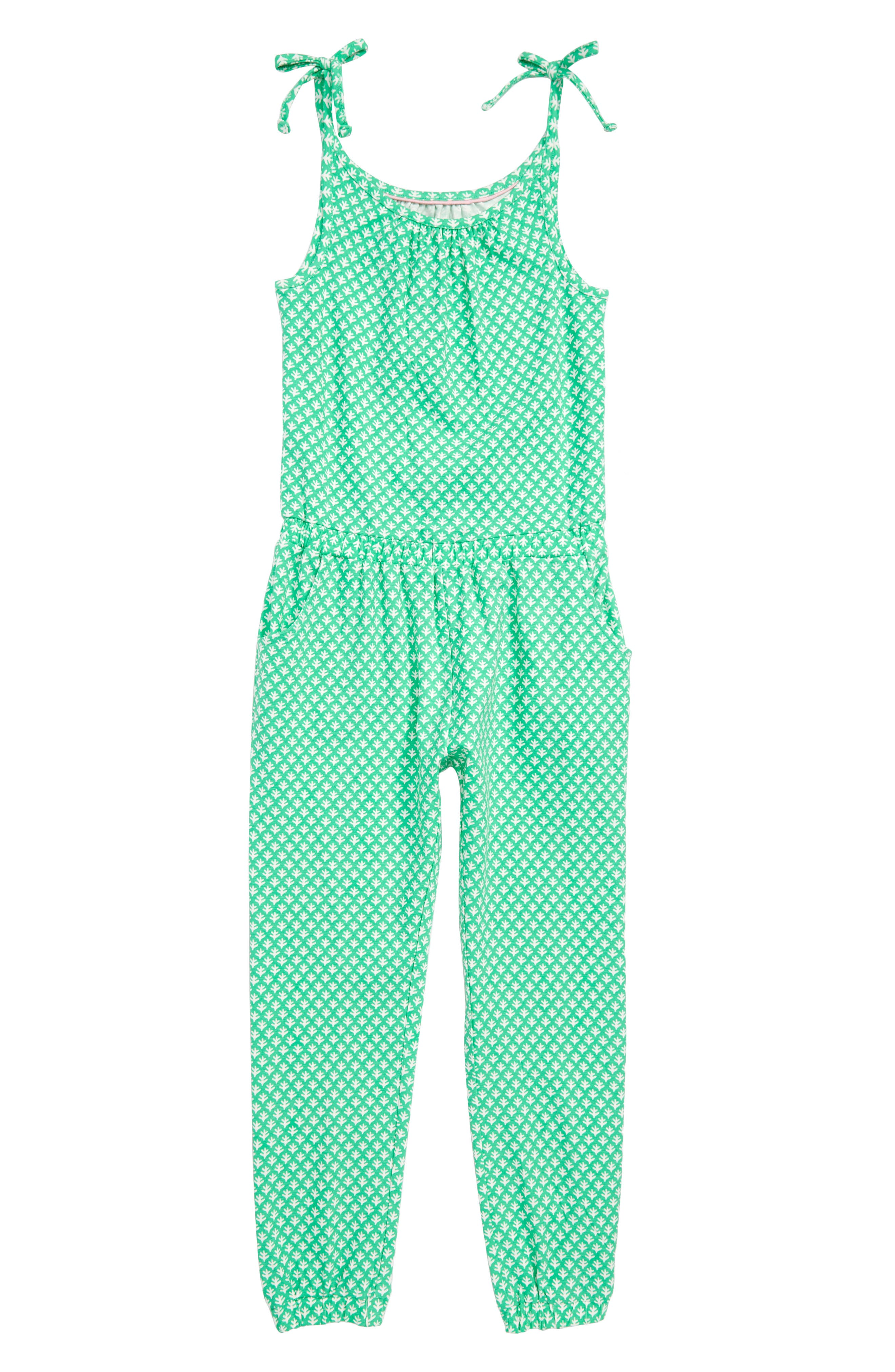 Jersey Jumpsuit,                             Main thumbnail 1, color,                             Peppermint Cream/ Ivory Geo