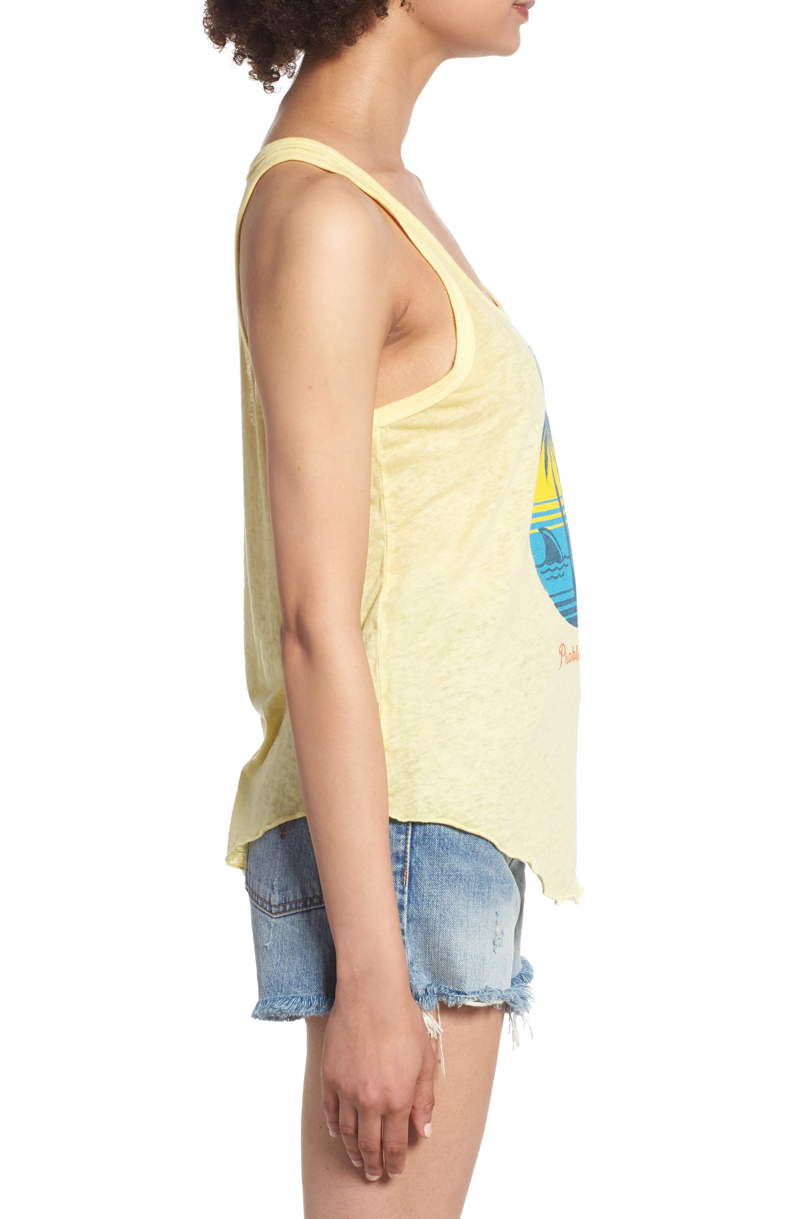 Problems in Paradise Graphic Tank,                             Alternate thumbnail 5, color,                             Yellow