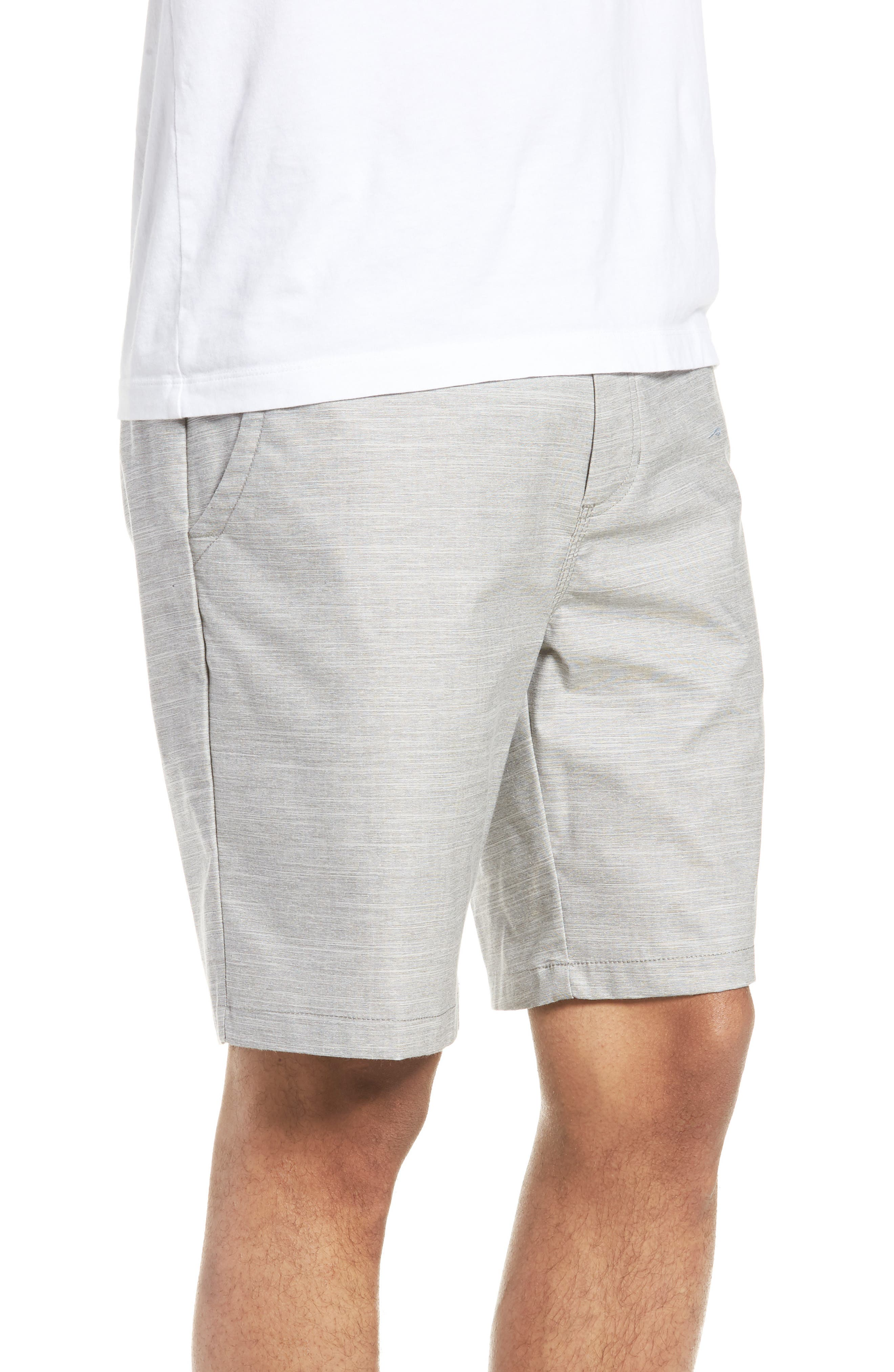 Authentic Heather Decksider Shorts,                             Alternate thumbnail 3, color,                             Frost Grey Heather