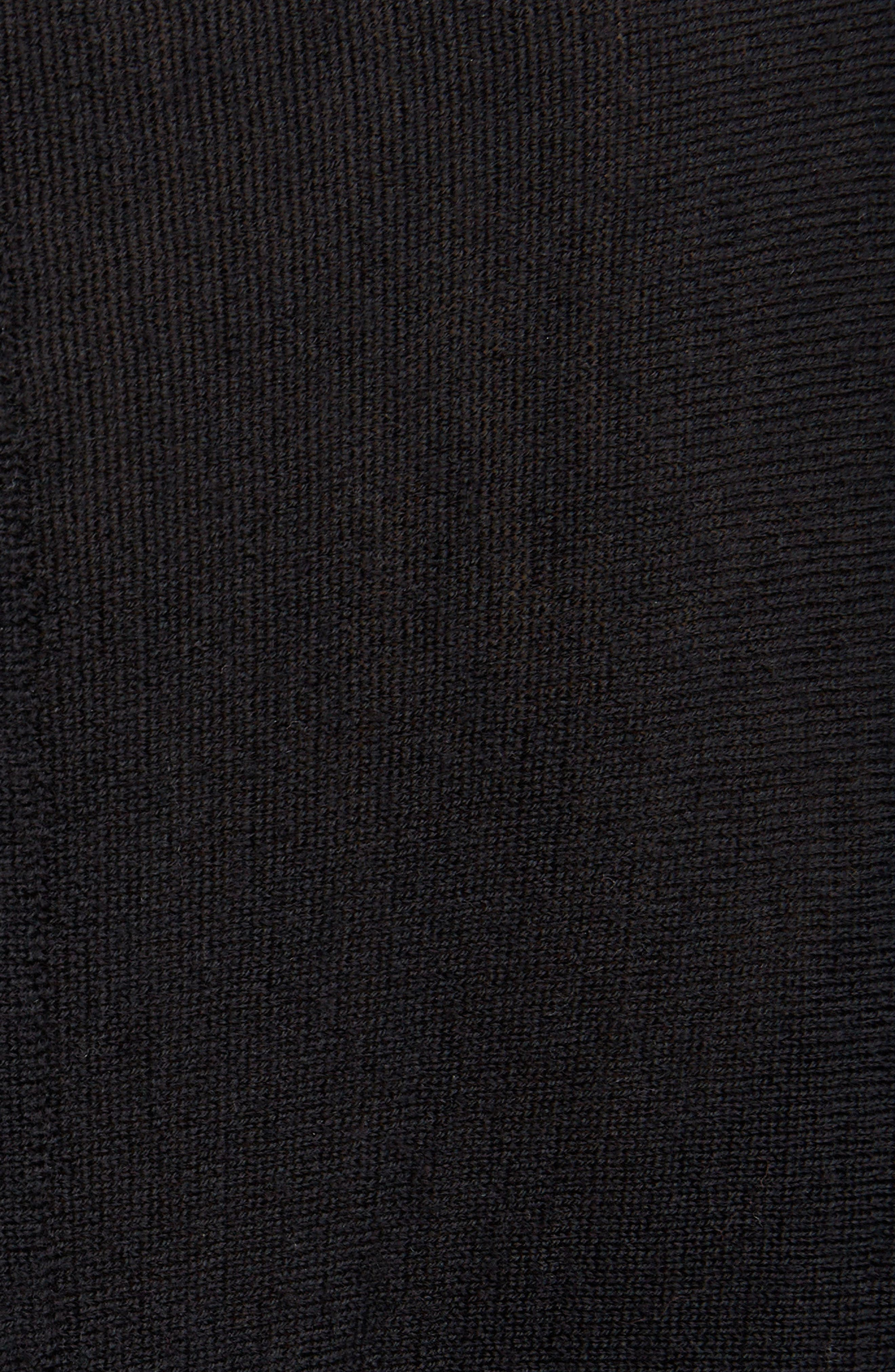 Merino Wool Drape Cardigan,                             Alternate thumbnail 5, color,                             Black