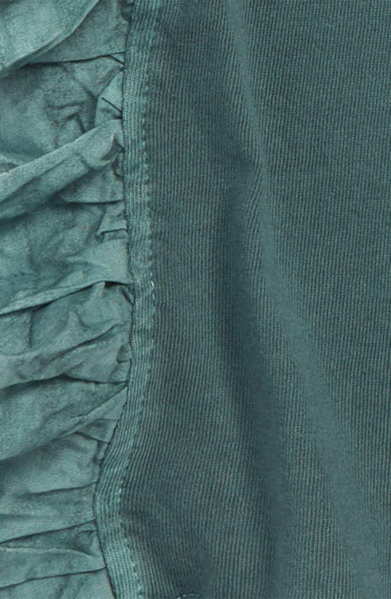 Ruffle Knit Short,                             Alternate thumbnail 2, color,                             Green Agave