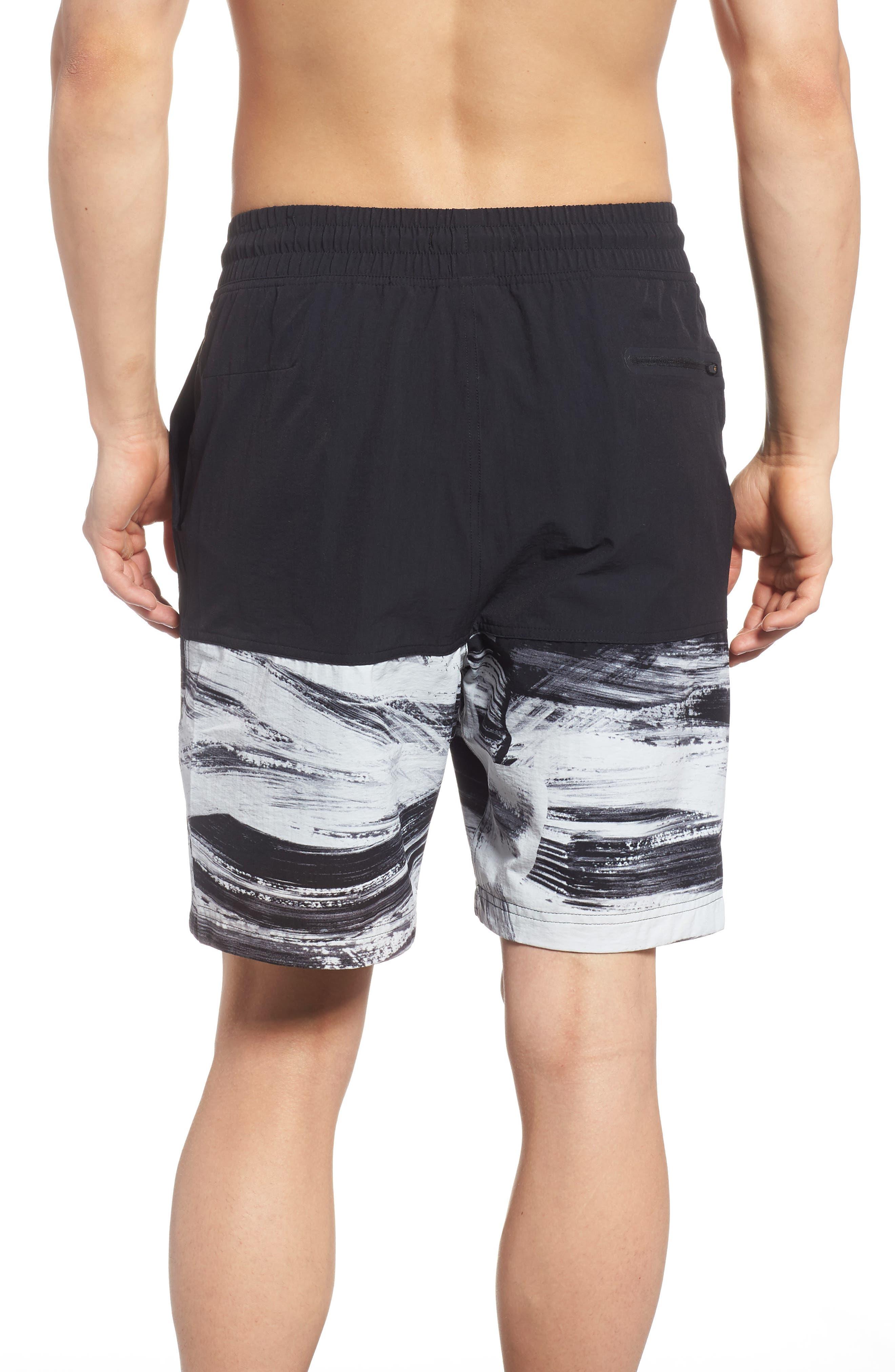 NSW Franchise GX1 Shorts,                             Alternate thumbnail 2, color,                             Black/ Black