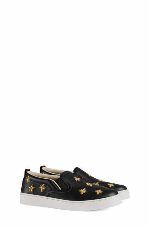6b4f856a213 Gucci Dublin Bees and Stars Slip-On Sneaker (Toddler