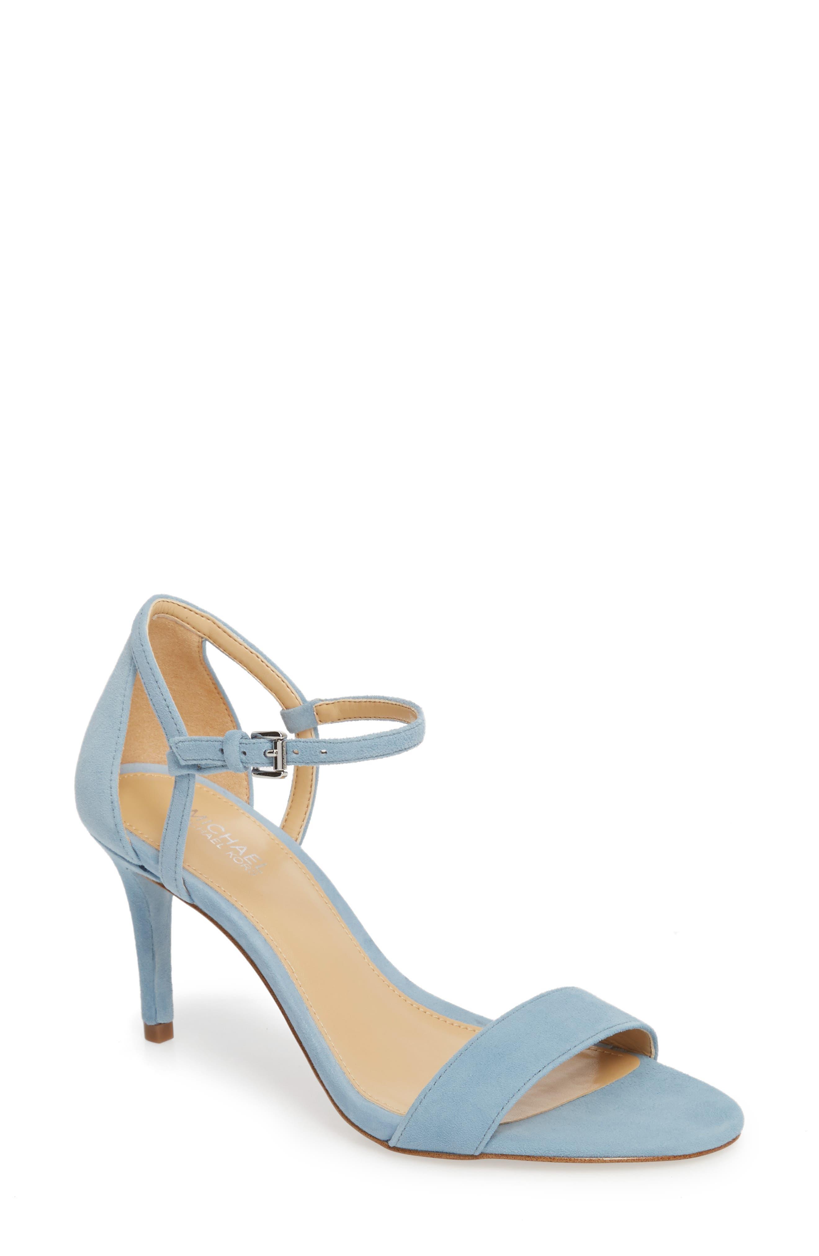 'Simone' Sandal,                             Main thumbnail 1, color,                             Powder Blue Suede