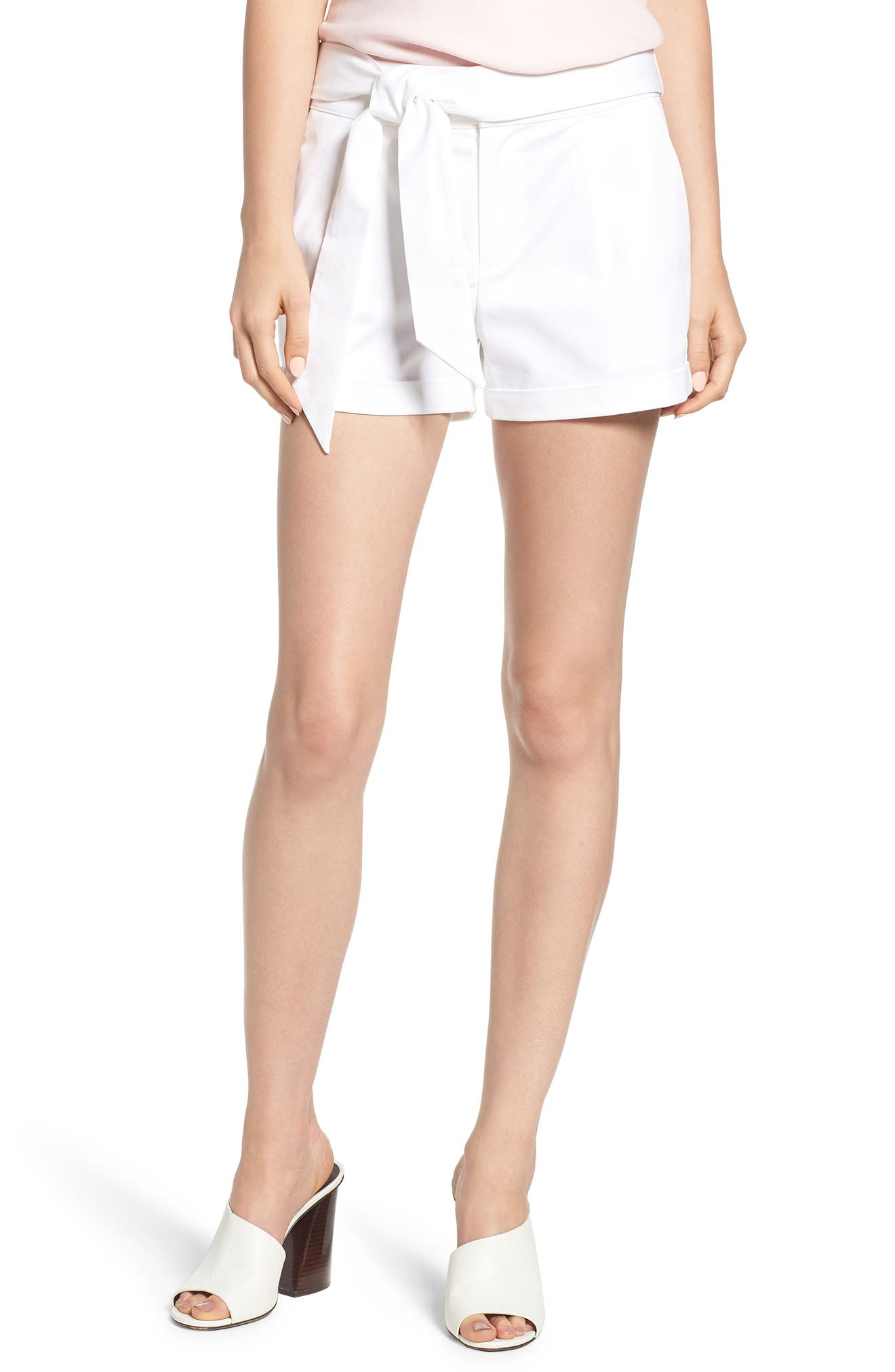 Yelinda Shorts,                             Main thumbnail 1, color,                             White