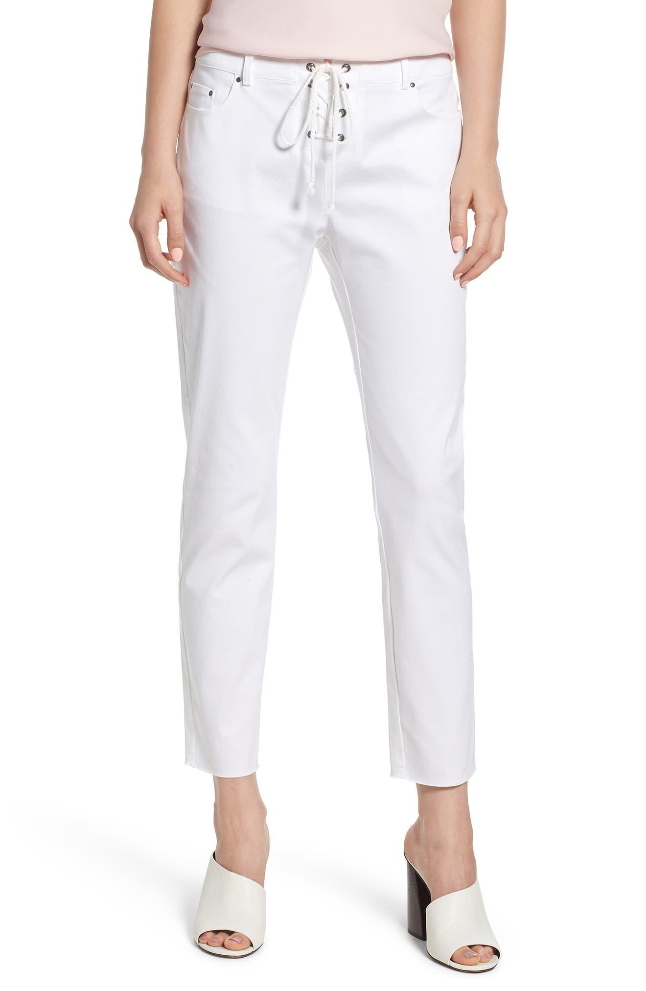Jalanda Pants,                         Main,                         color, White