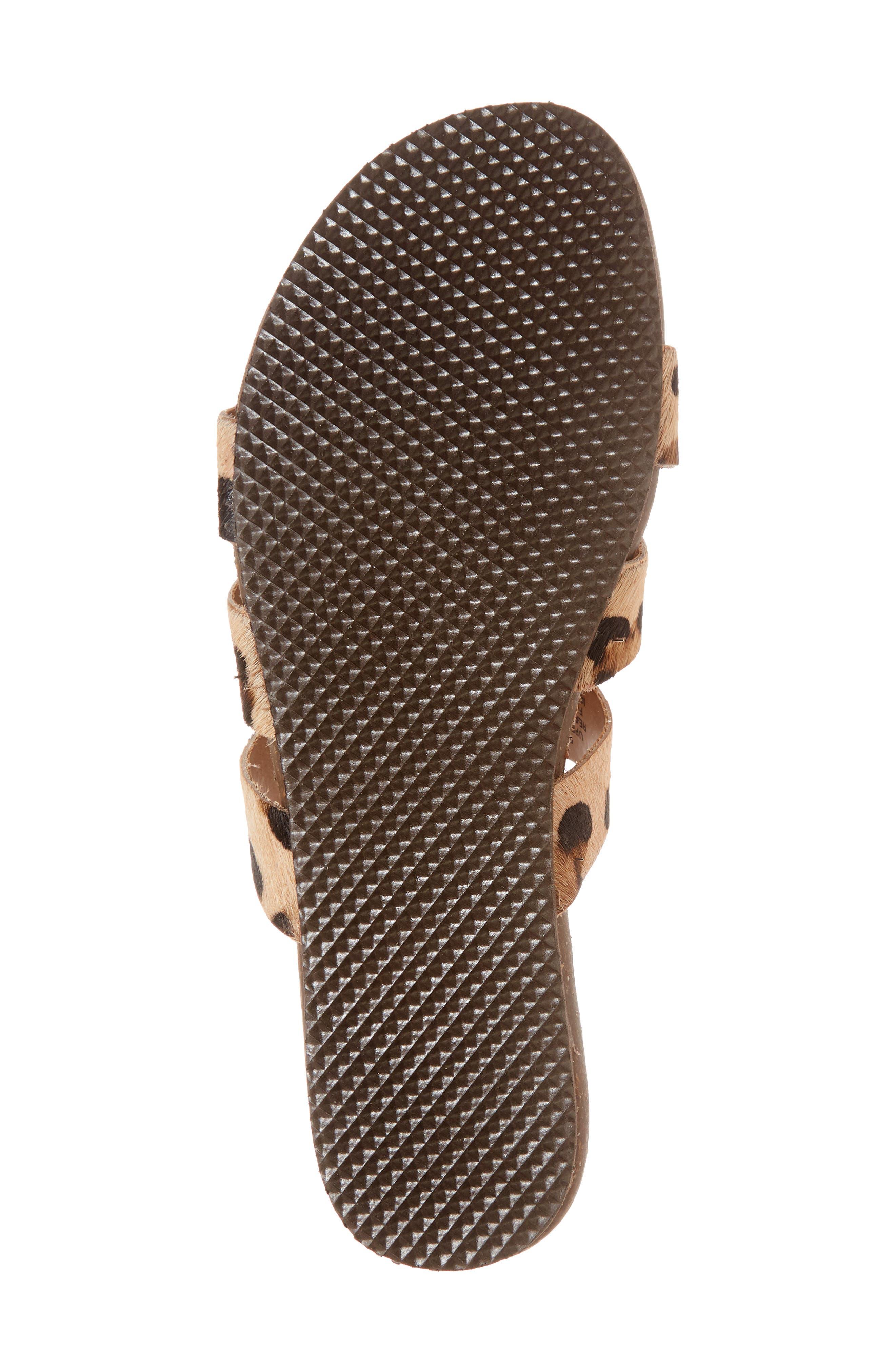 Florence Slide Sandal,                             Alternate thumbnail 6, color,                             Leopard Calf Hair