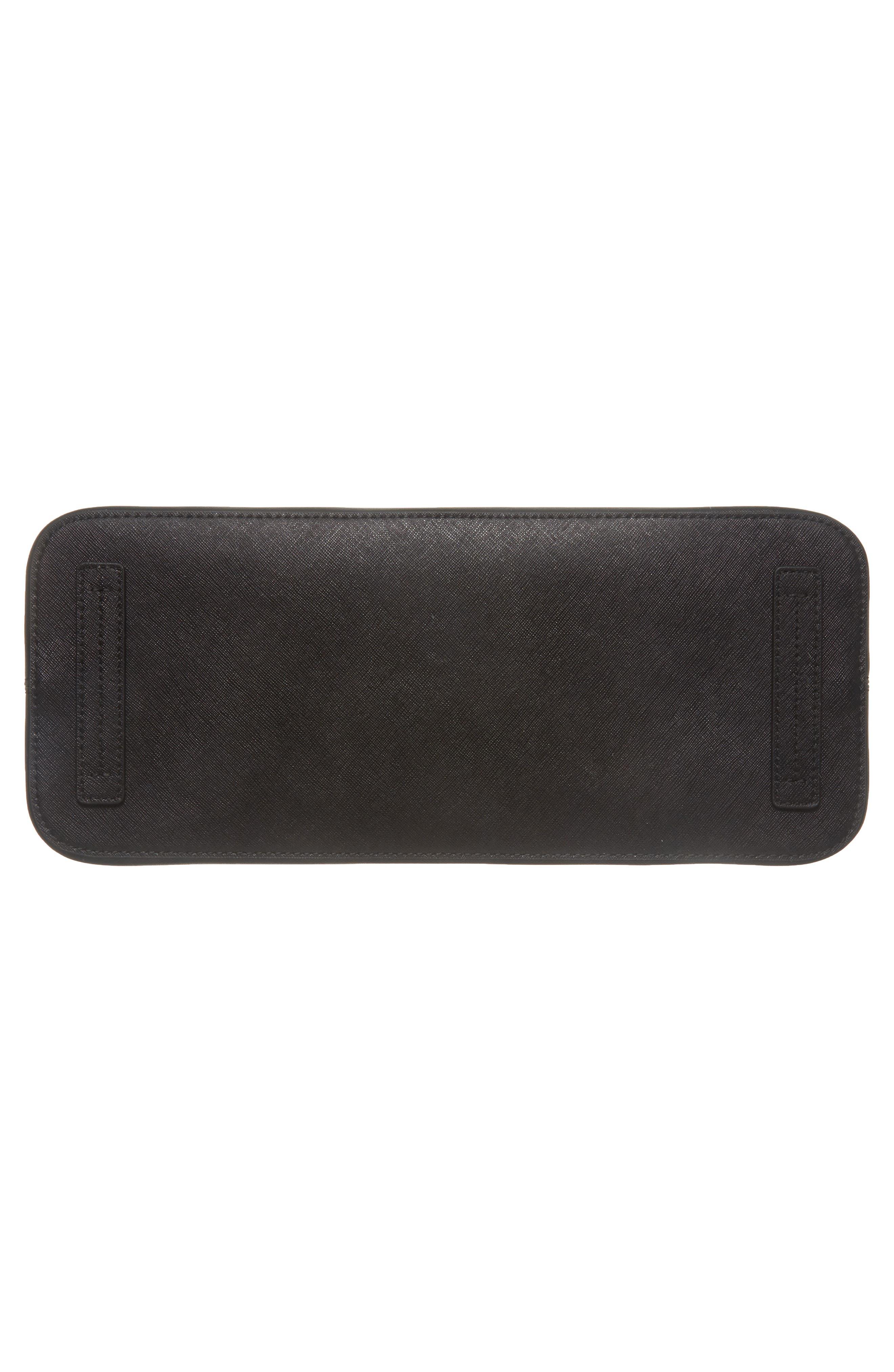 Robinson Leather Dome Satchel,                             Alternate thumbnail 6, color,                             Black Core