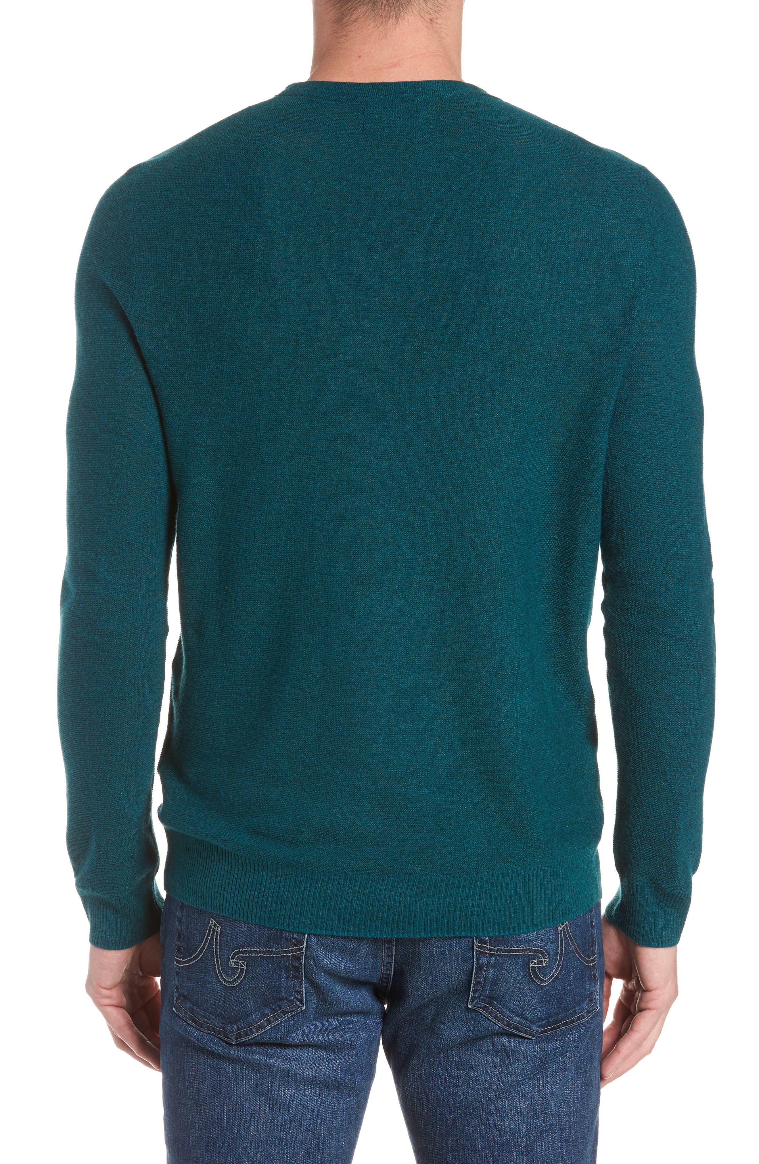 Slim Fit Crewneck Sweater,                             Alternate thumbnail 2, color,                             Heather Peacock