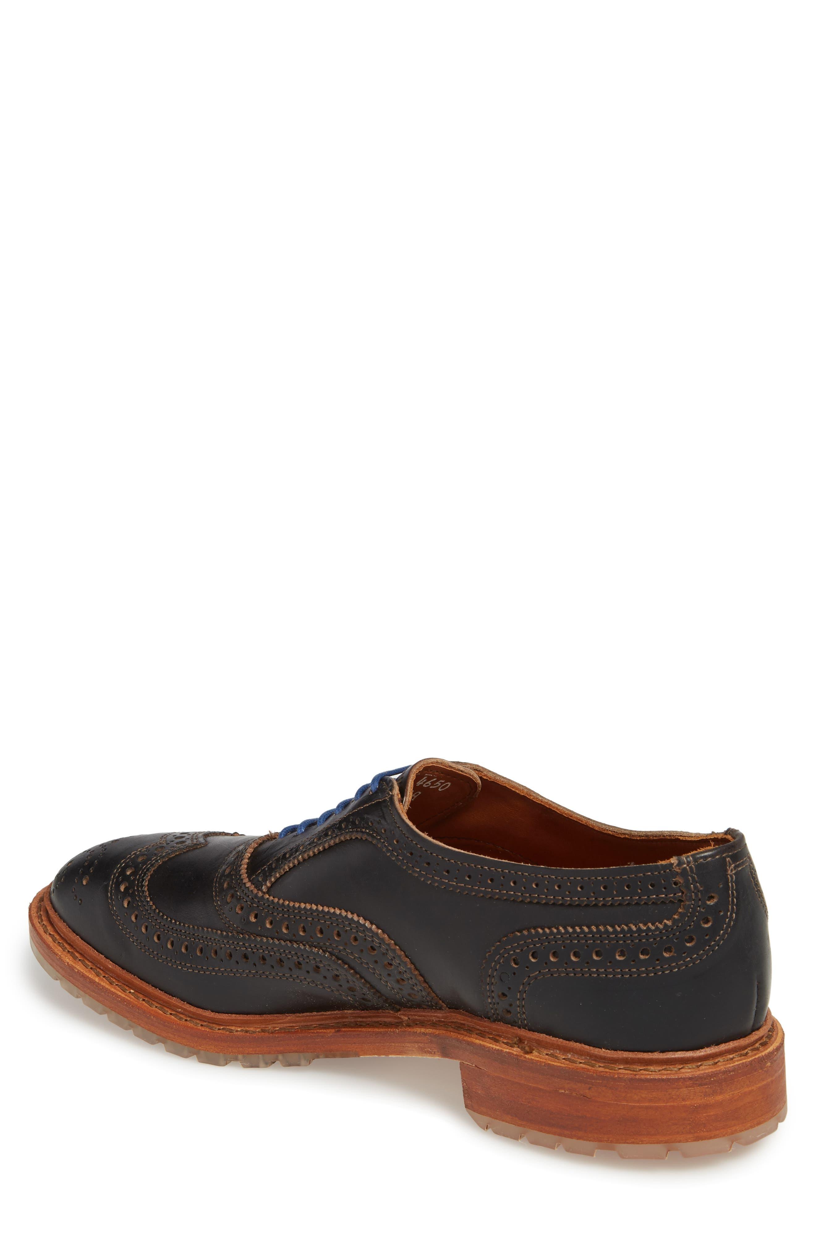 McTavish Lugged Wingtip,                             Alternate thumbnail 2, color,                             Black Leather