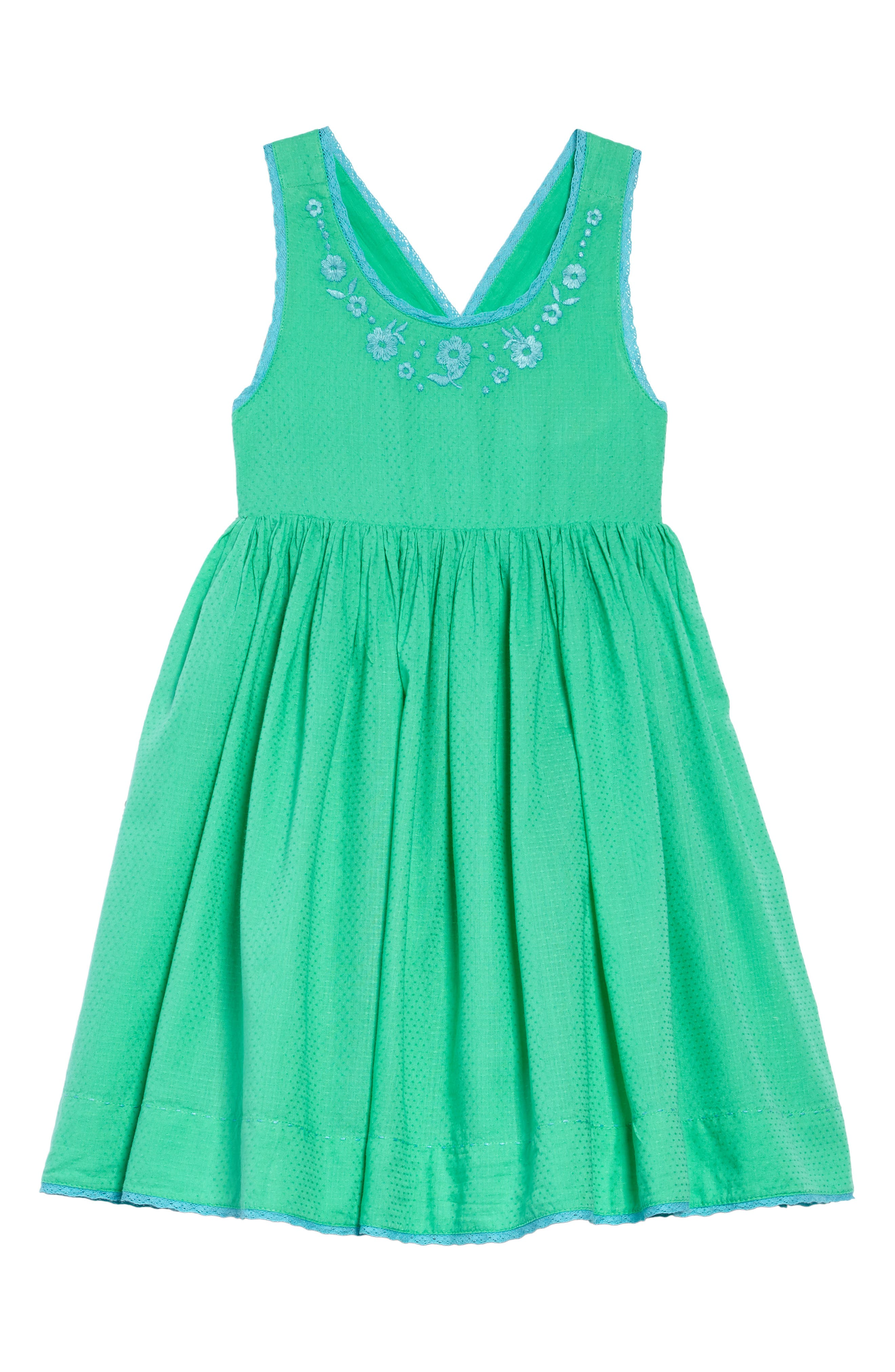 Embroidered Dress,                         Main,                         color, Peppermint Cream Green