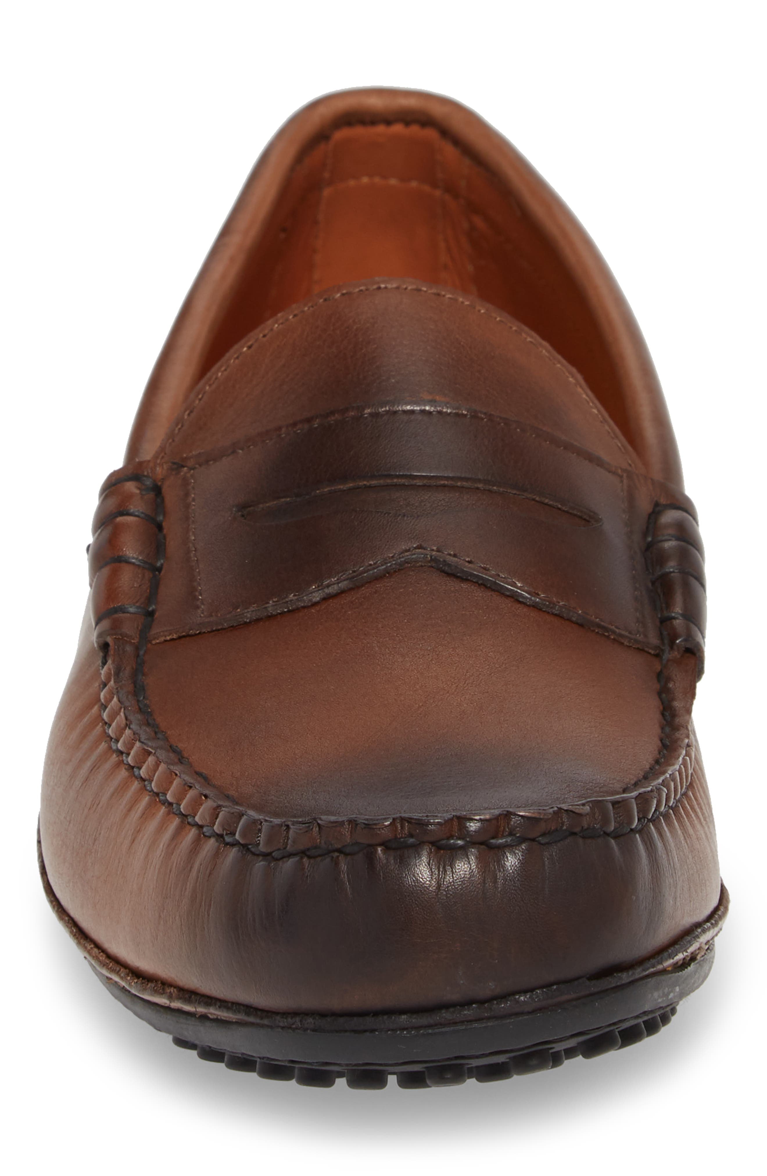 Siesta Key Penny Loafer,                             Alternate thumbnail 4, color,                             Brown Leather