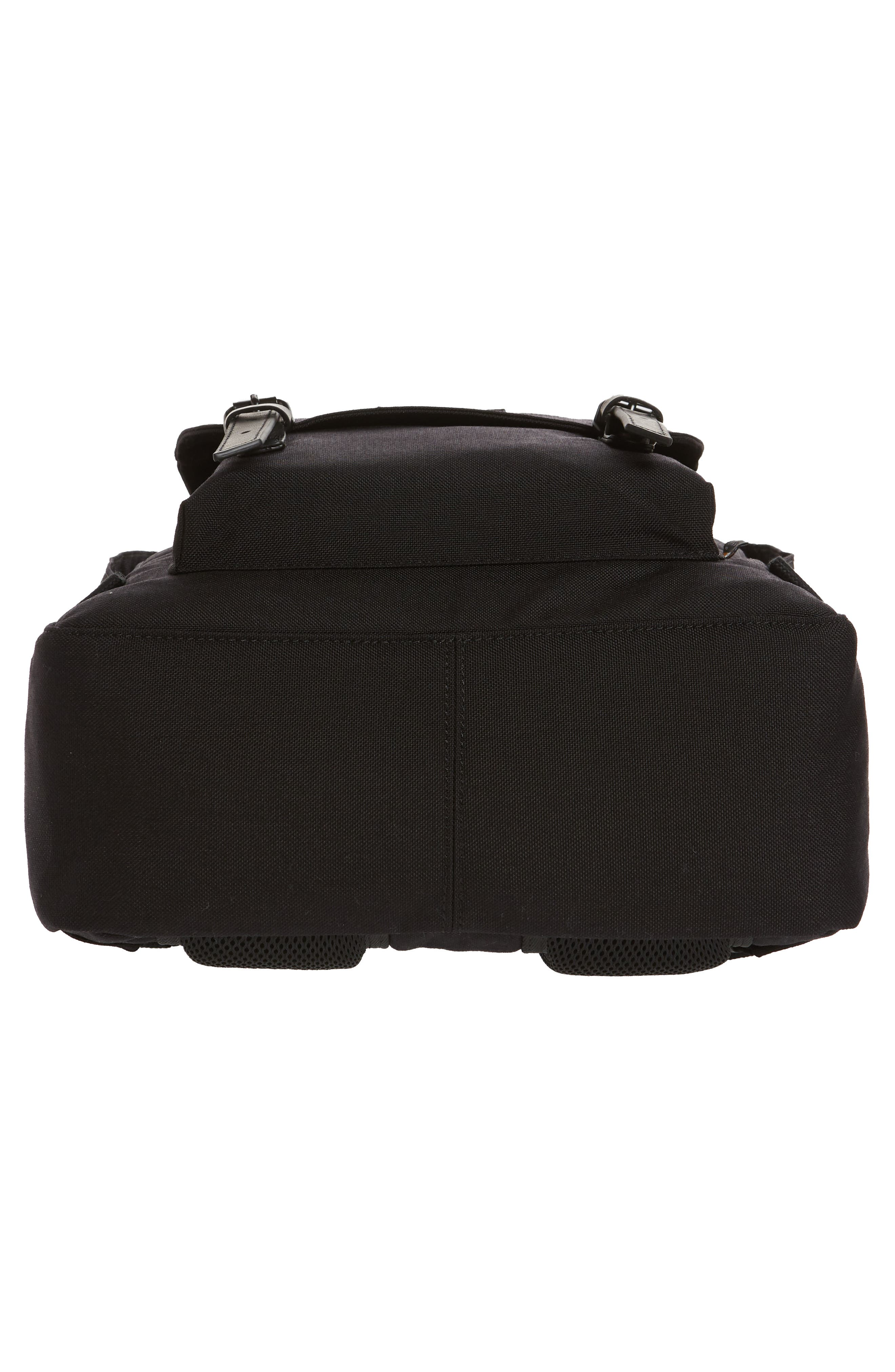 Macaroon Large Cordura<sup>®</sup> Black Series Water Repellent Backpack,                             Alternate thumbnail 6, color,                             Black