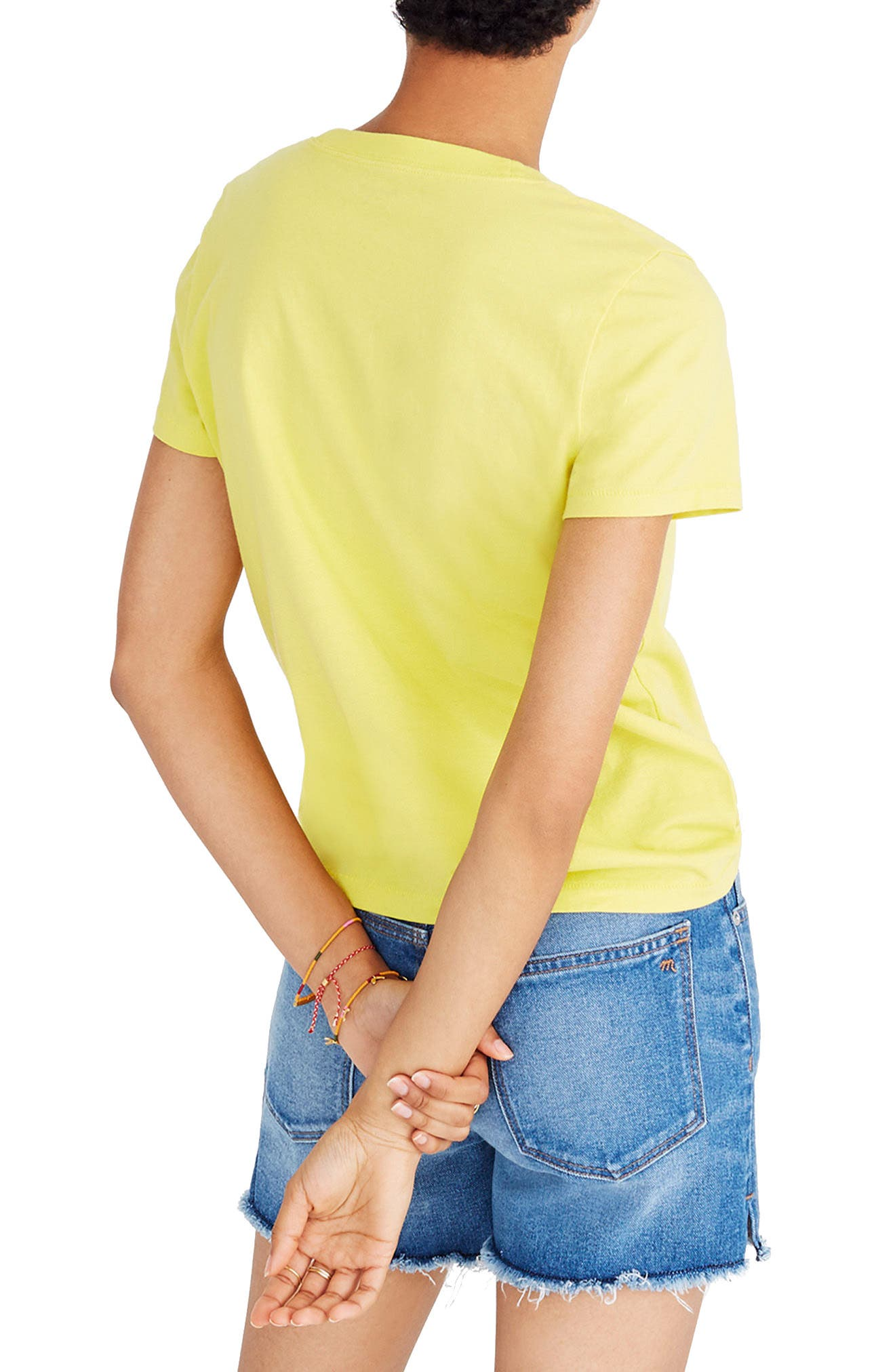 Palm Embroidered Boxy Tee,                             Alternate thumbnail 2, color,                             Acid Yellow
