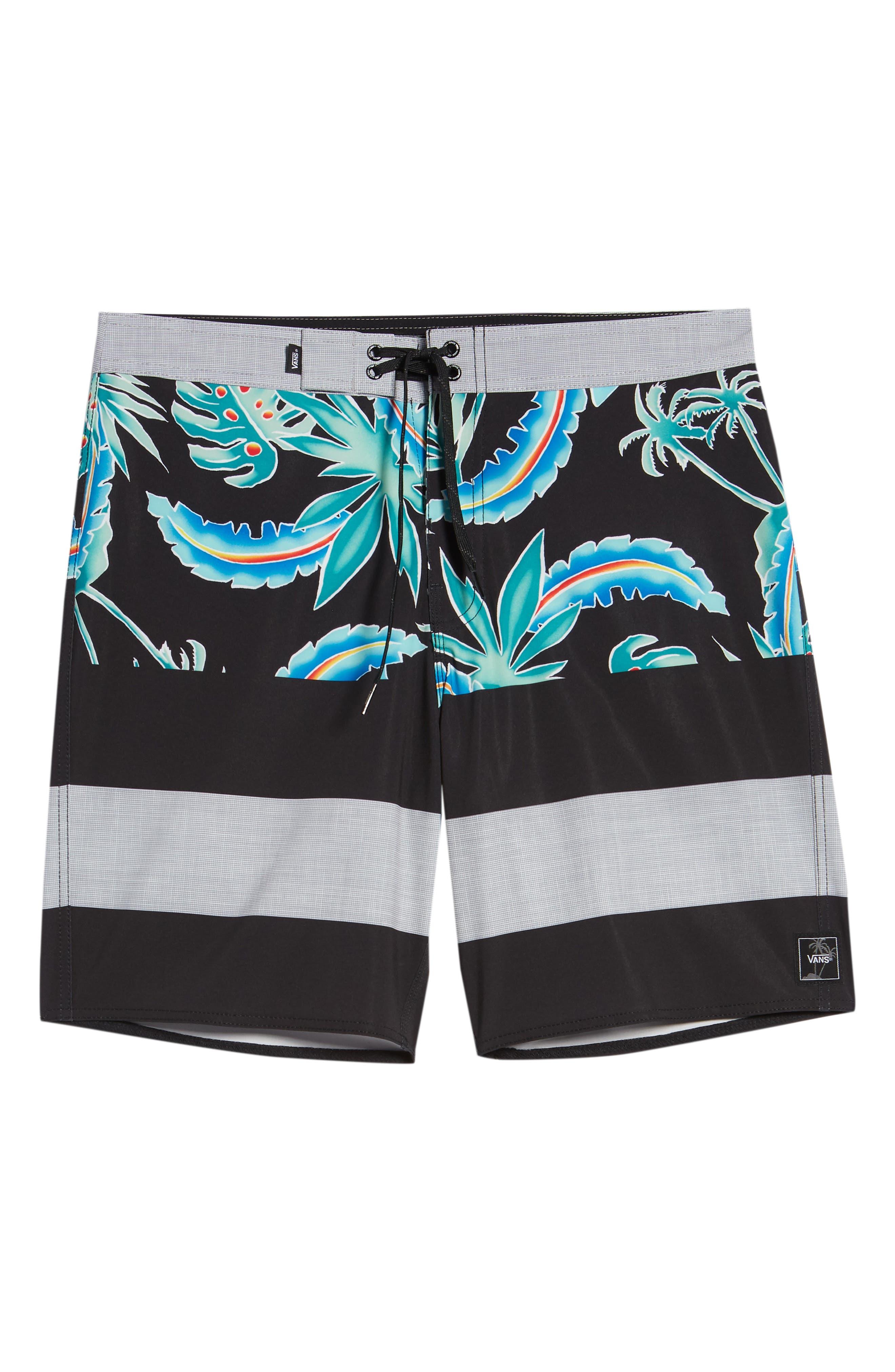 Era Board Shorts,                             Alternate thumbnail 6, color,                             Black Pit Stop Floral