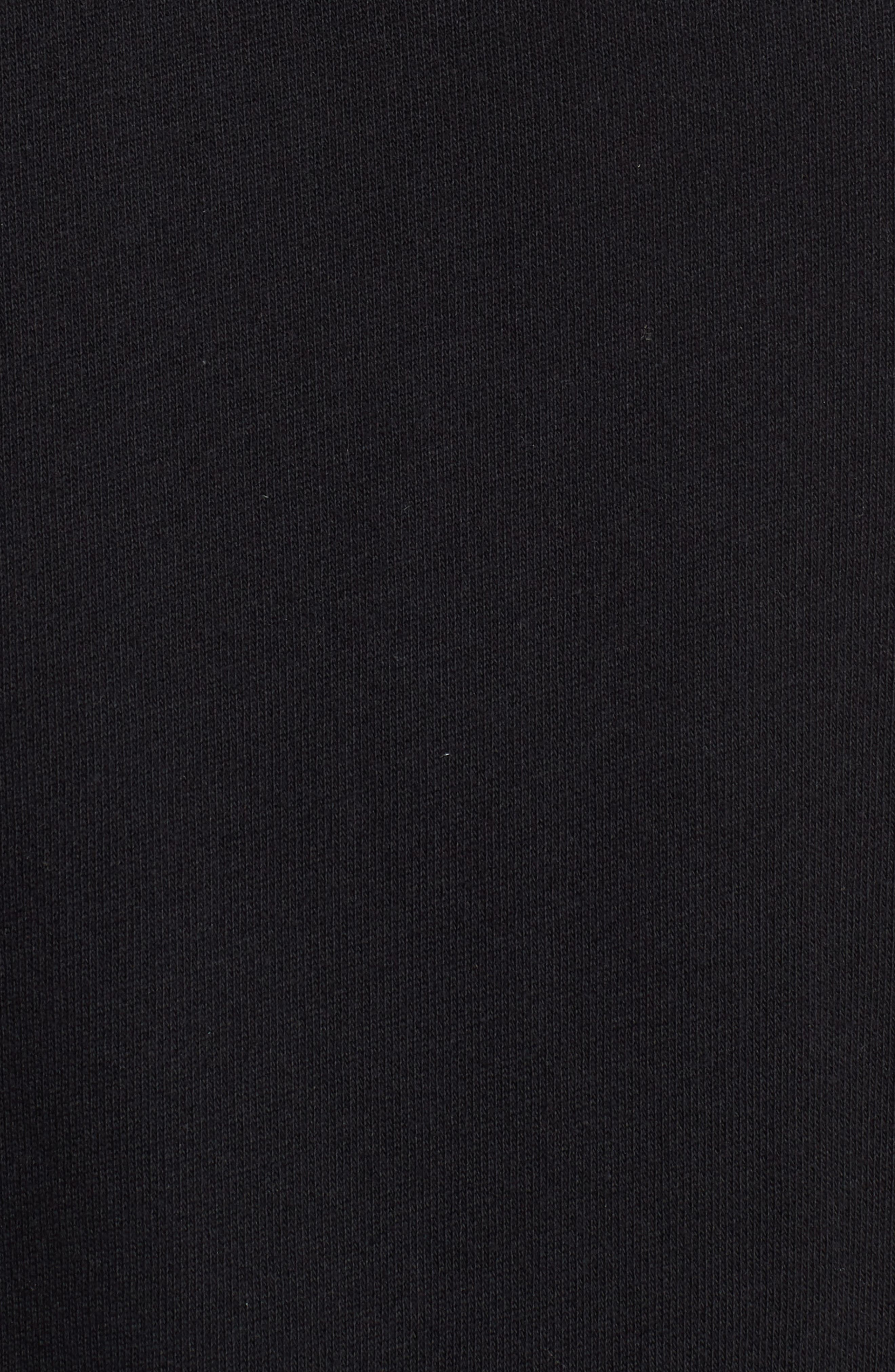 Off-Duty Mixed Media Cotton Top,                             Alternate thumbnail 5, color,                             Black