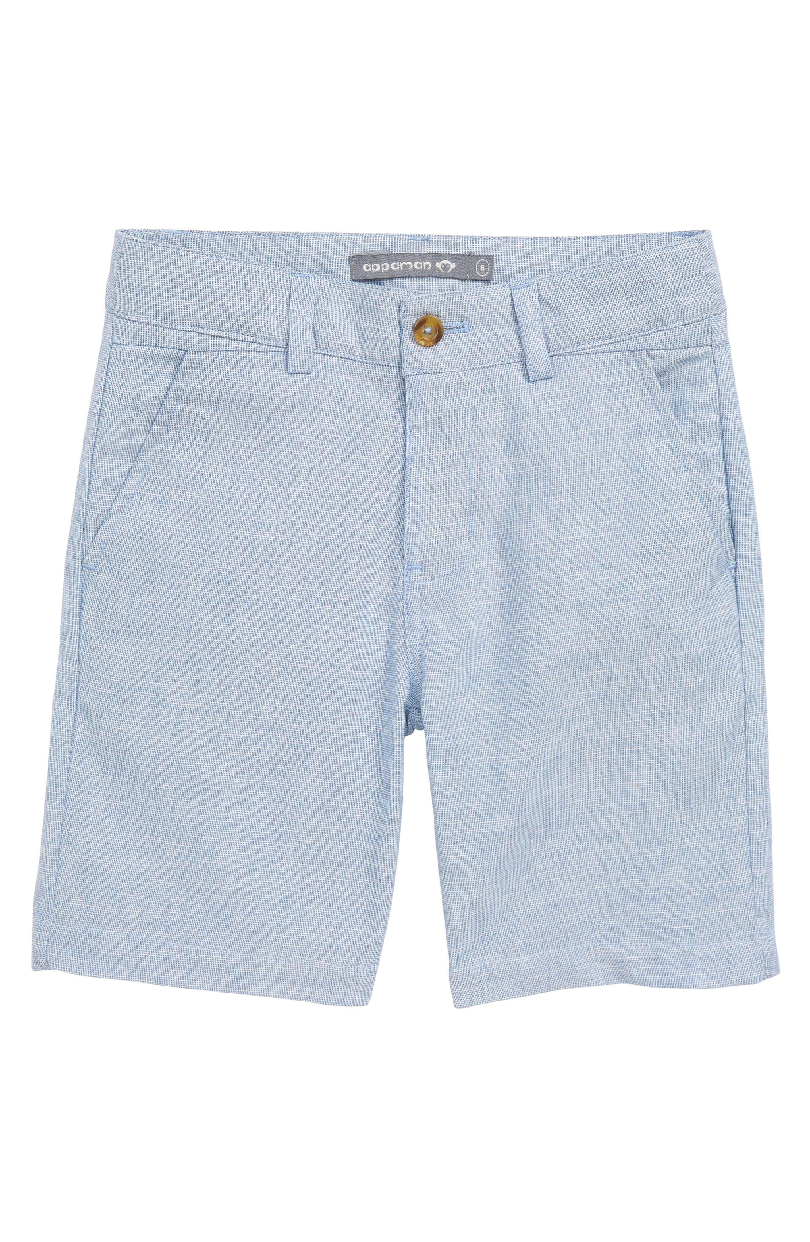 Trouser Shorts,                             Main thumbnail 1, color,                             Sky Club