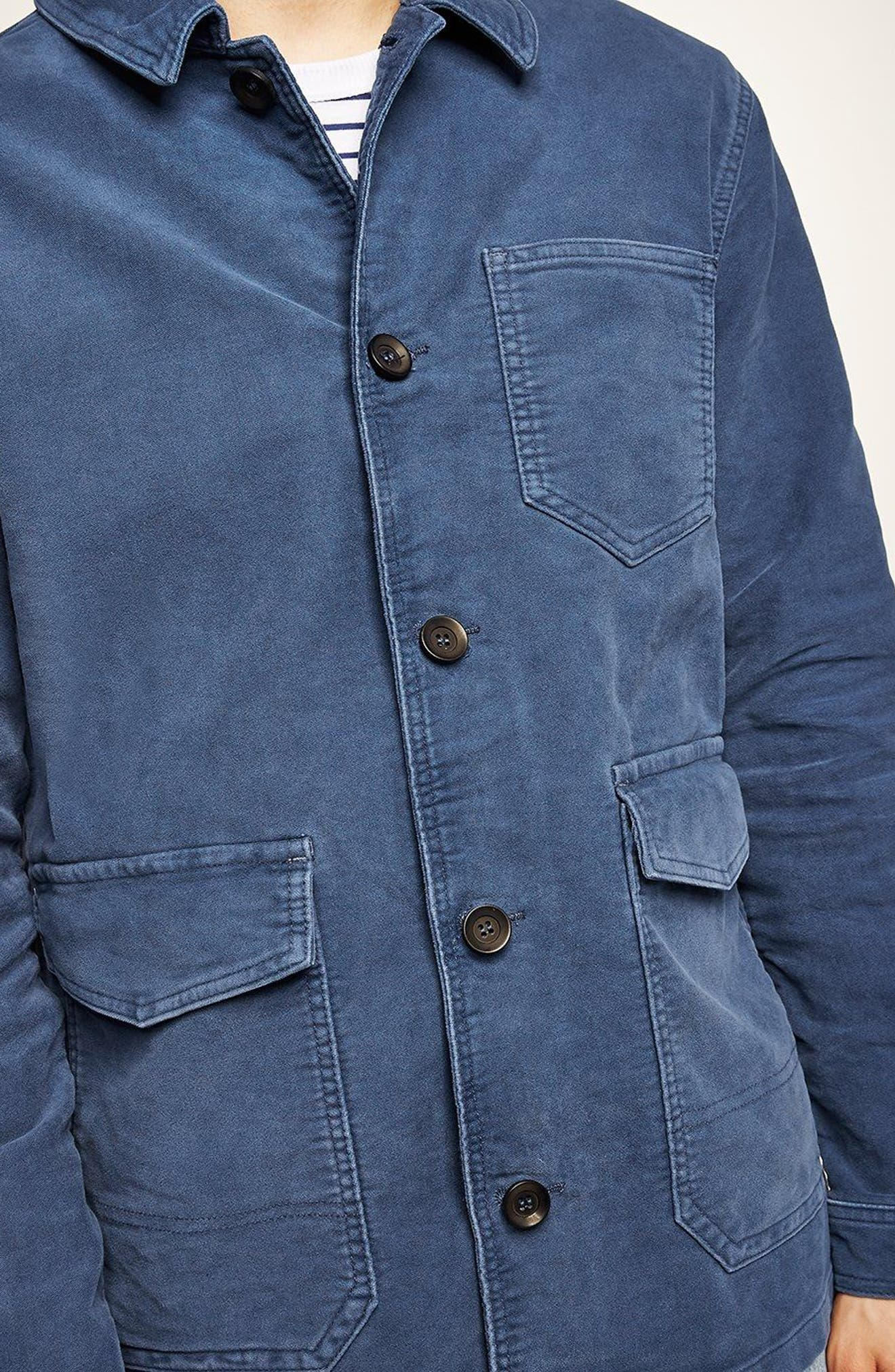 Classic Fit Work Jacket,                             Alternate thumbnail 3, color,                             Blue