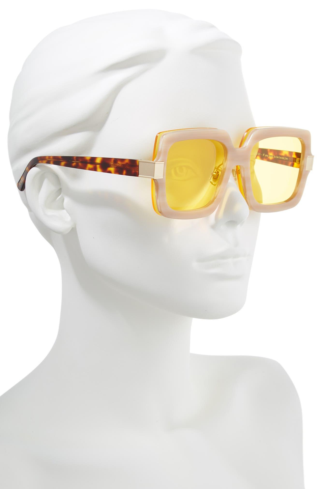 Mancuso 54mm Sunglasses,                             Alternate thumbnail 2, color,                             Red Elm/ Yellow