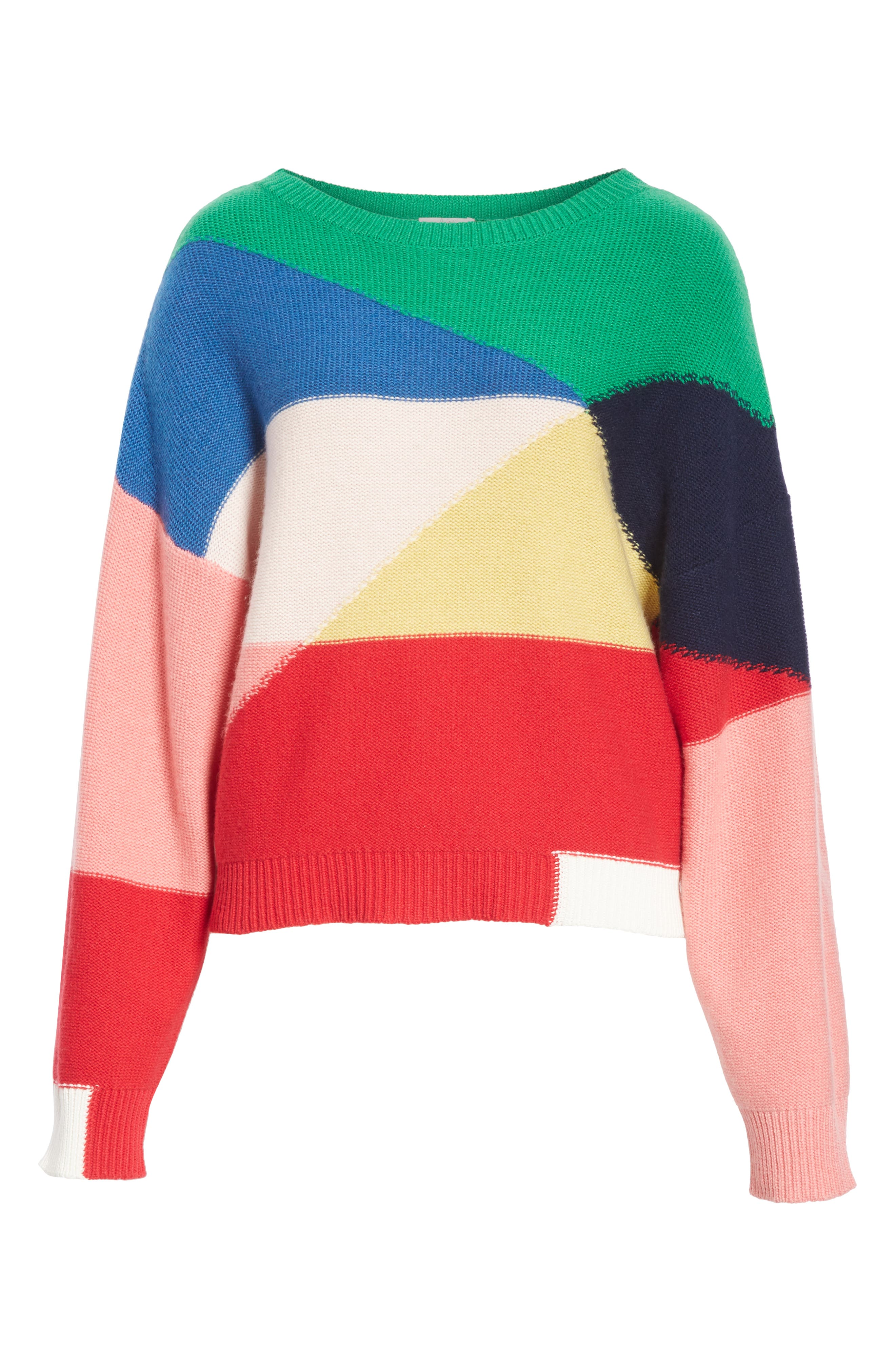 Megu Colorblock Wool & Cashmere Sweater,                             Alternate thumbnail 6, color,                             Multi