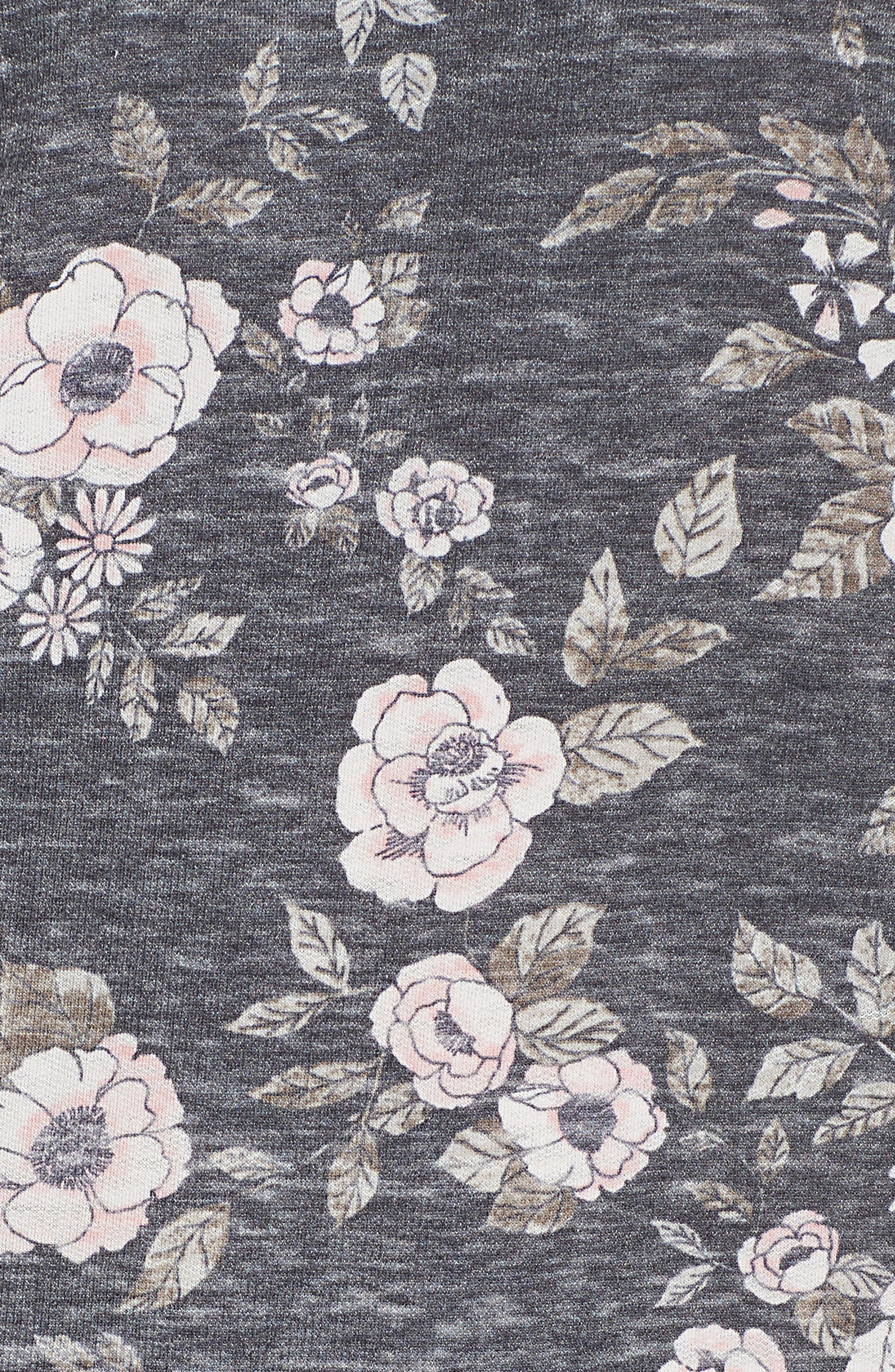 Burnout Lounge Sweatshirt,                             Alternate thumbnail 6, color,                             Pink Aura Floral