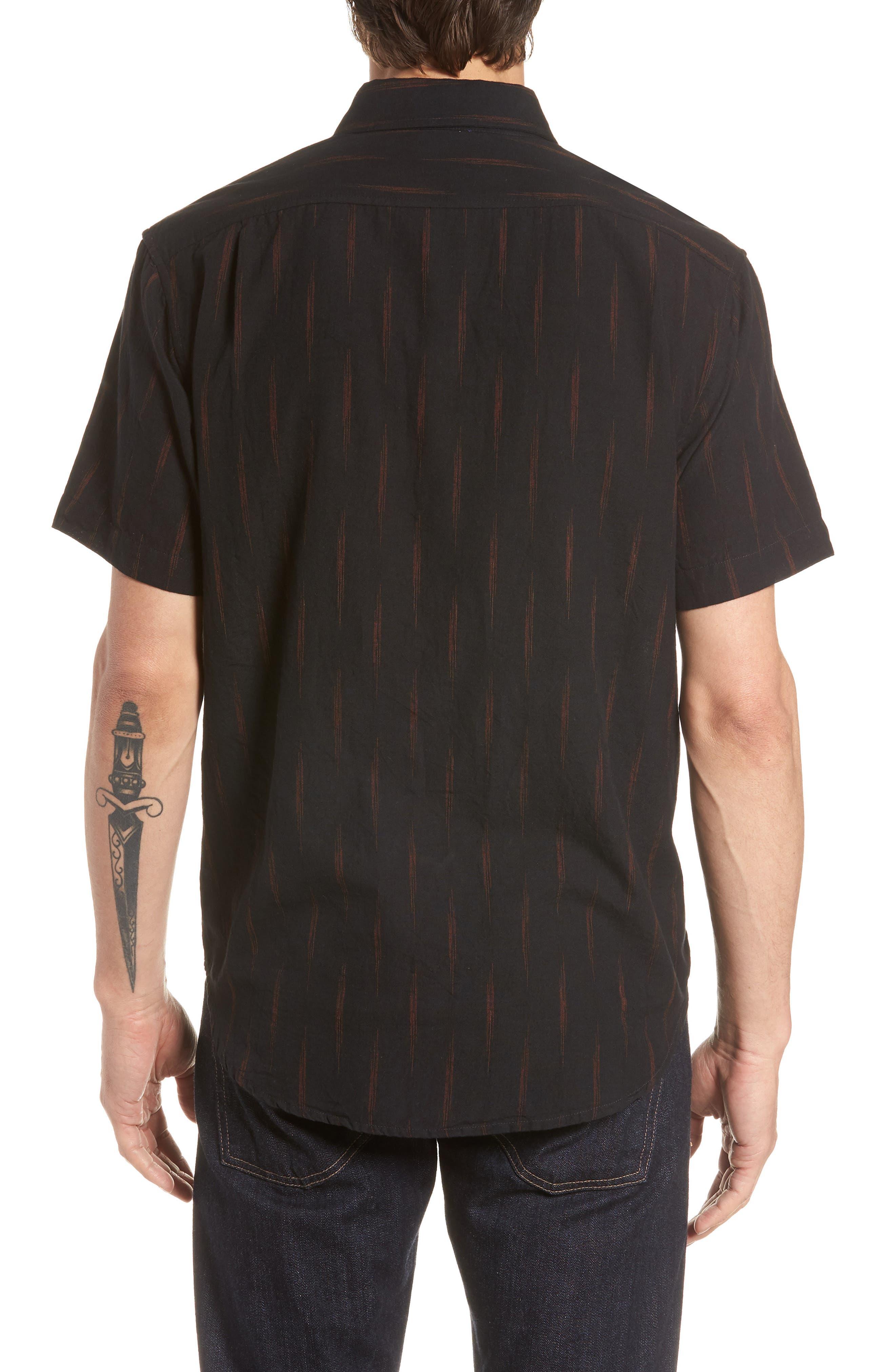 Limited Edition Slim Fit Short Sleeve Sport Shirt,                             Alternate thumbnail 3, color,                             Rio Grande - Gold Rush