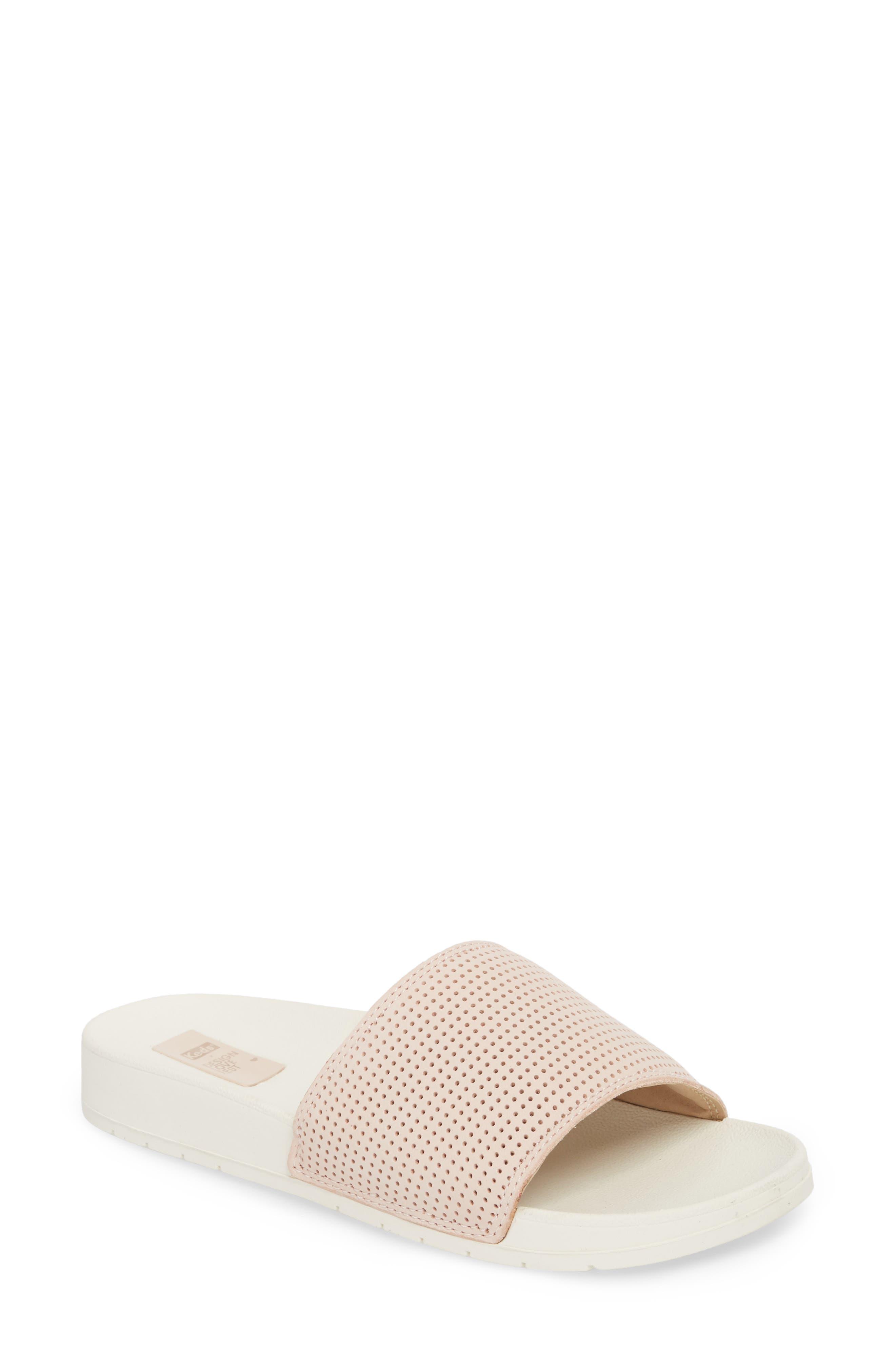 x Designlovefest Bliss Slide Sandal,                         Main,                         color, Blush/ Cream