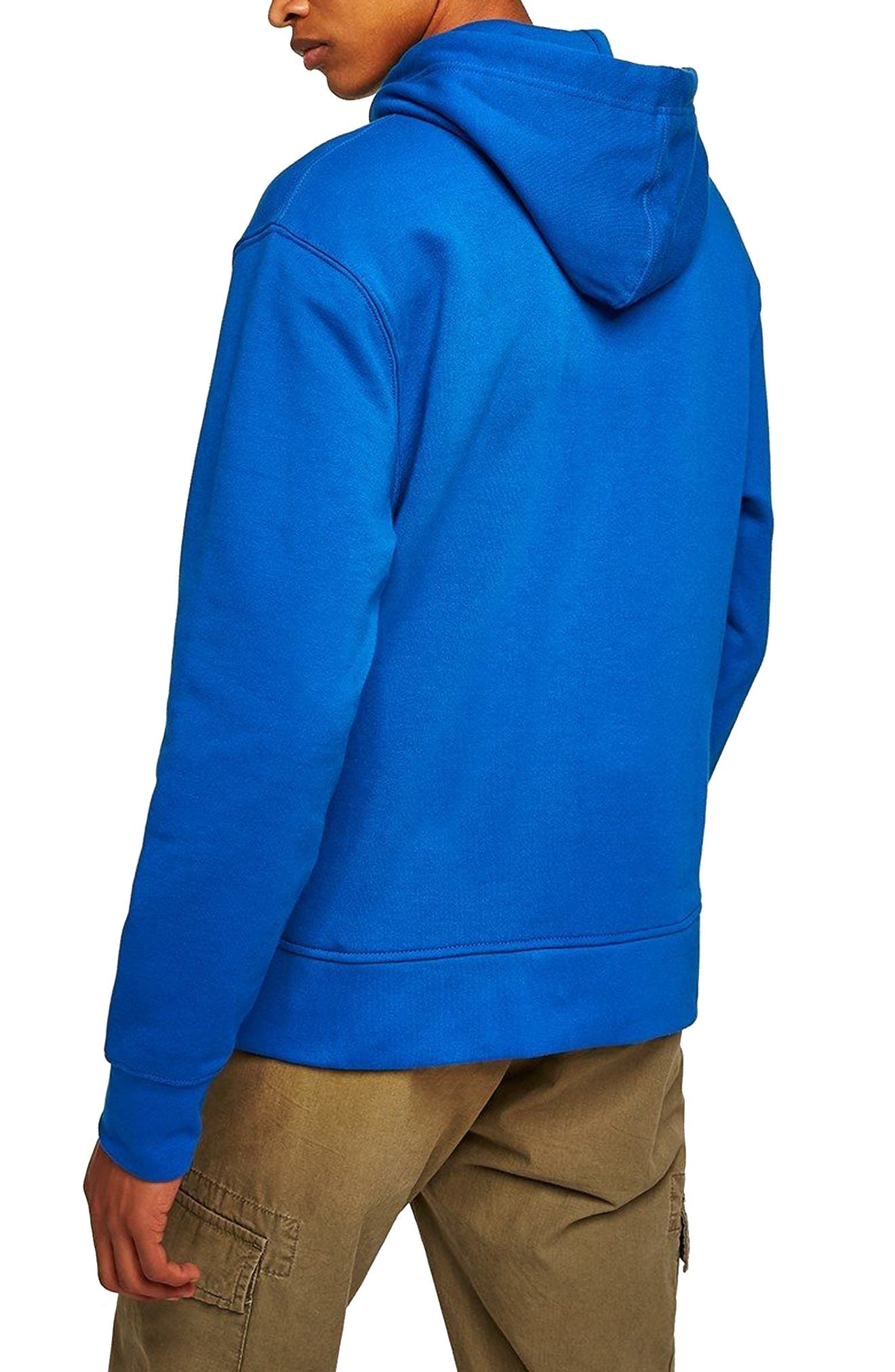 Classic Fit Tristan Hello Embroidered Hoodie,                             Alternate thumbnail 2, color,                             Blue Multi