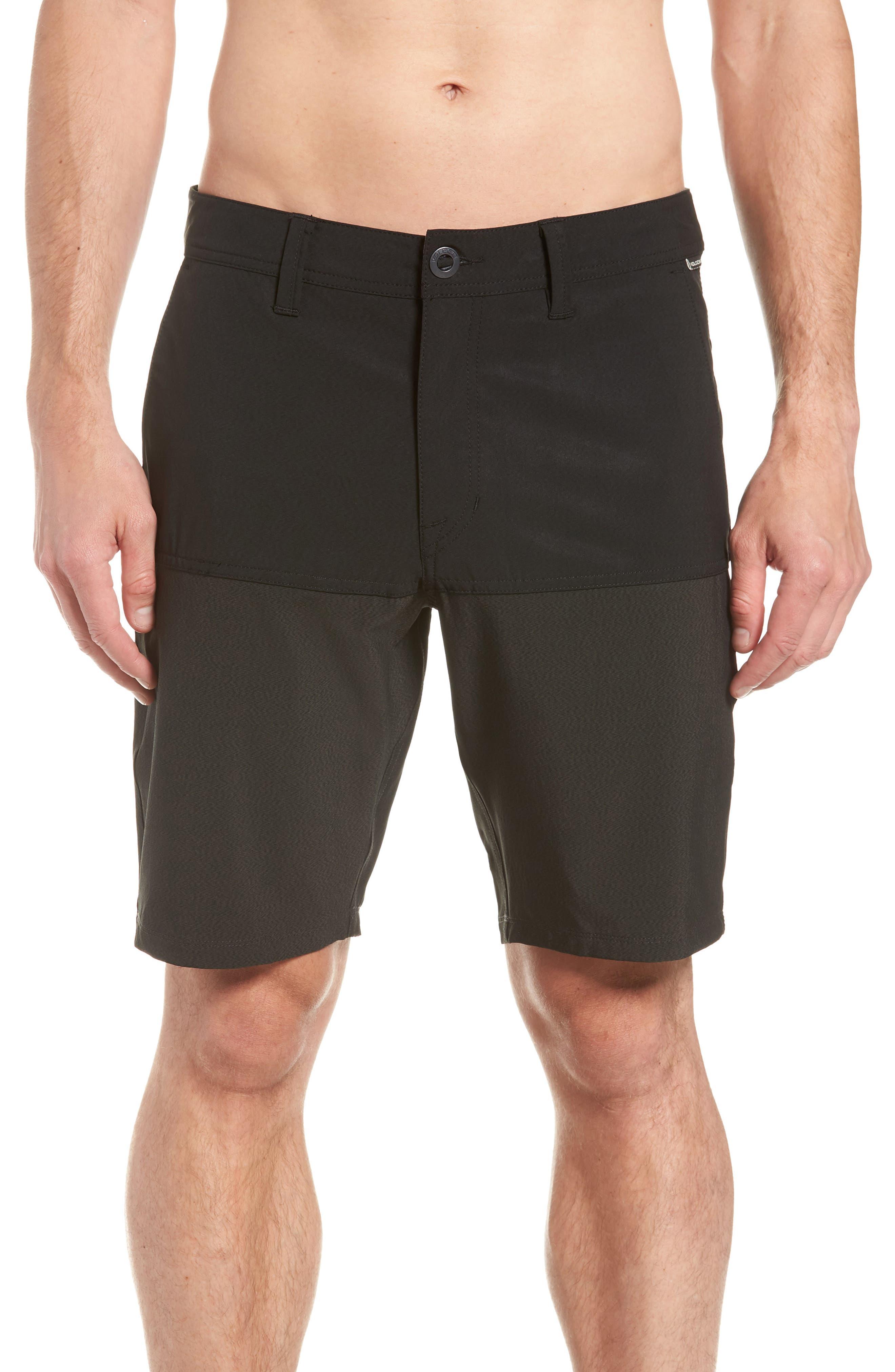 Surf 'n Turf Block Hybrid Shorts,                             Alternate thumbnail 4, color,                             Black