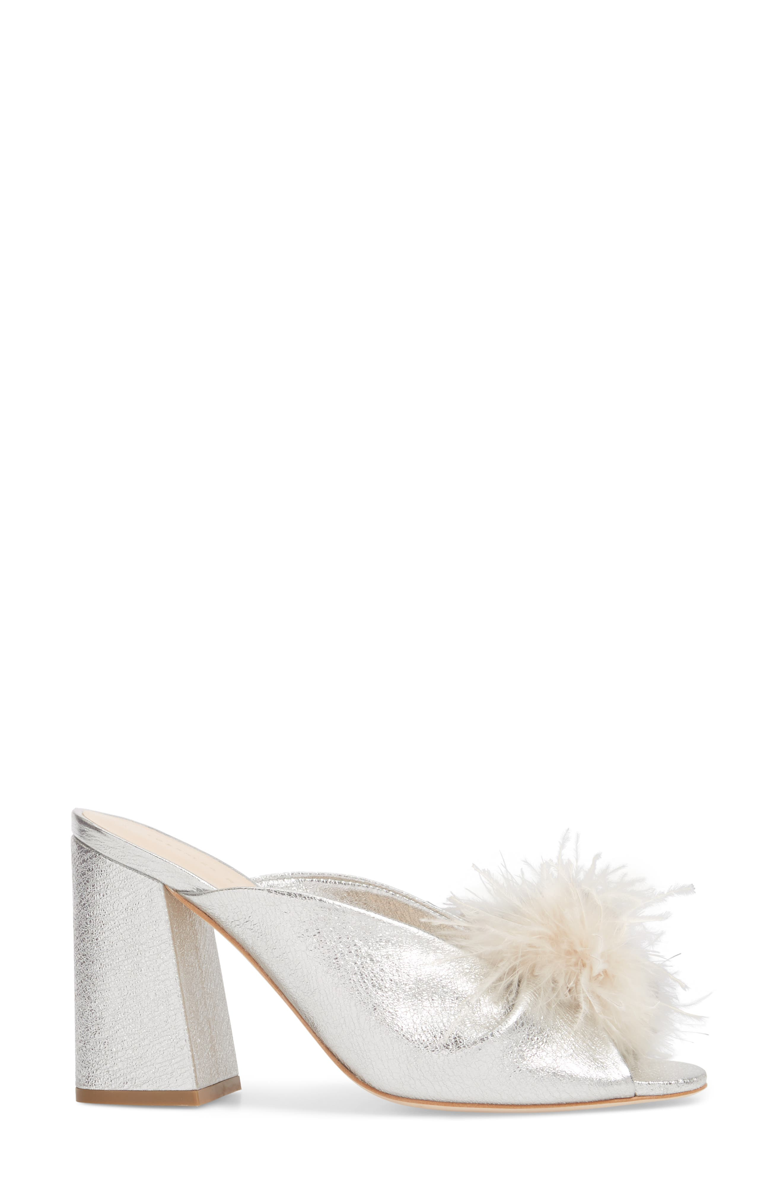 Laurel Slide Sandal,                             Alternate thumbnail 3, color,                             Silver