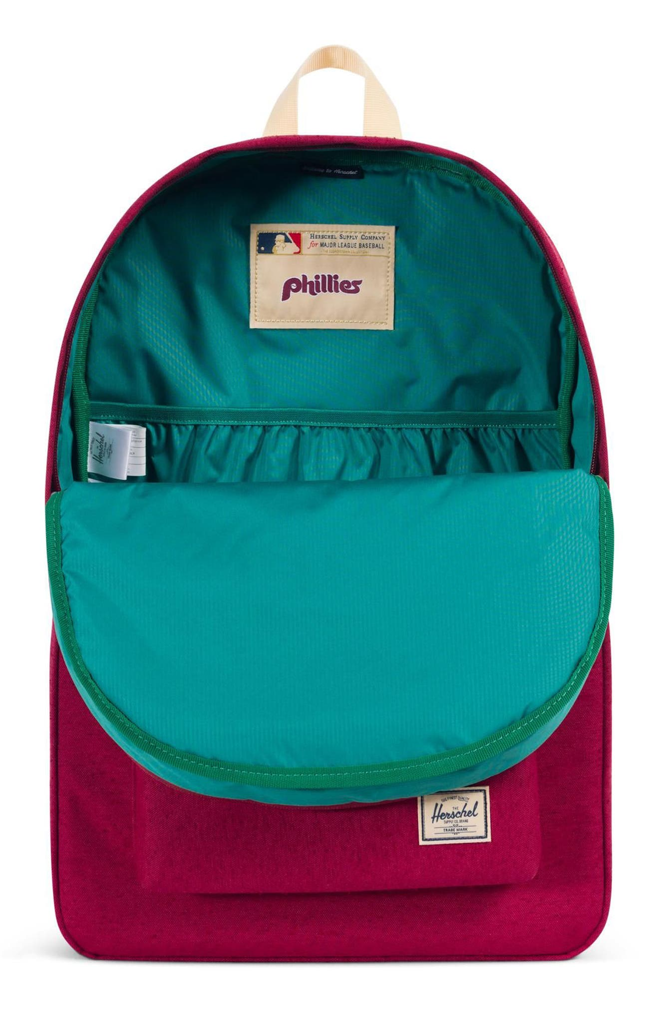 HERSCHEL SUPPLY CO. HERITAGE - MLB COOPERSTOWN COLLECTION BACKPACK - RED, PHILADELPHIA PHILLIES
