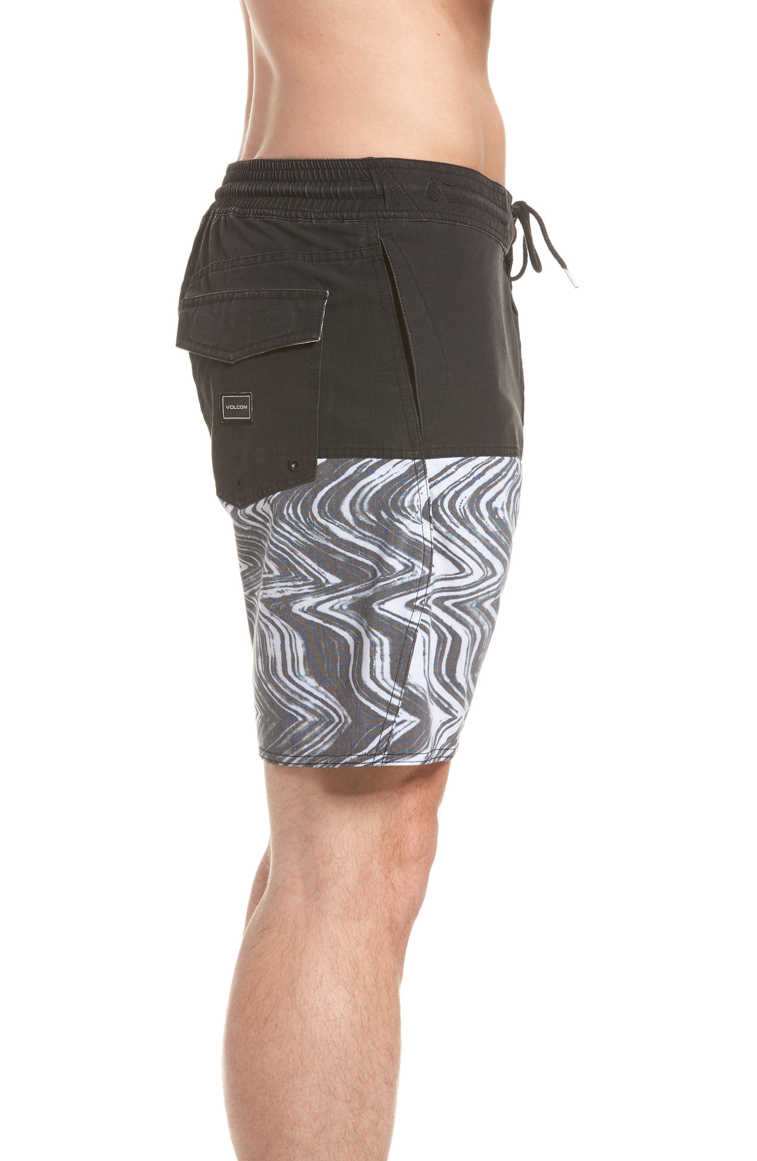 Vibes Half Stoney Board Shorts,                             Alternate thumbnail 3, color,                             Black