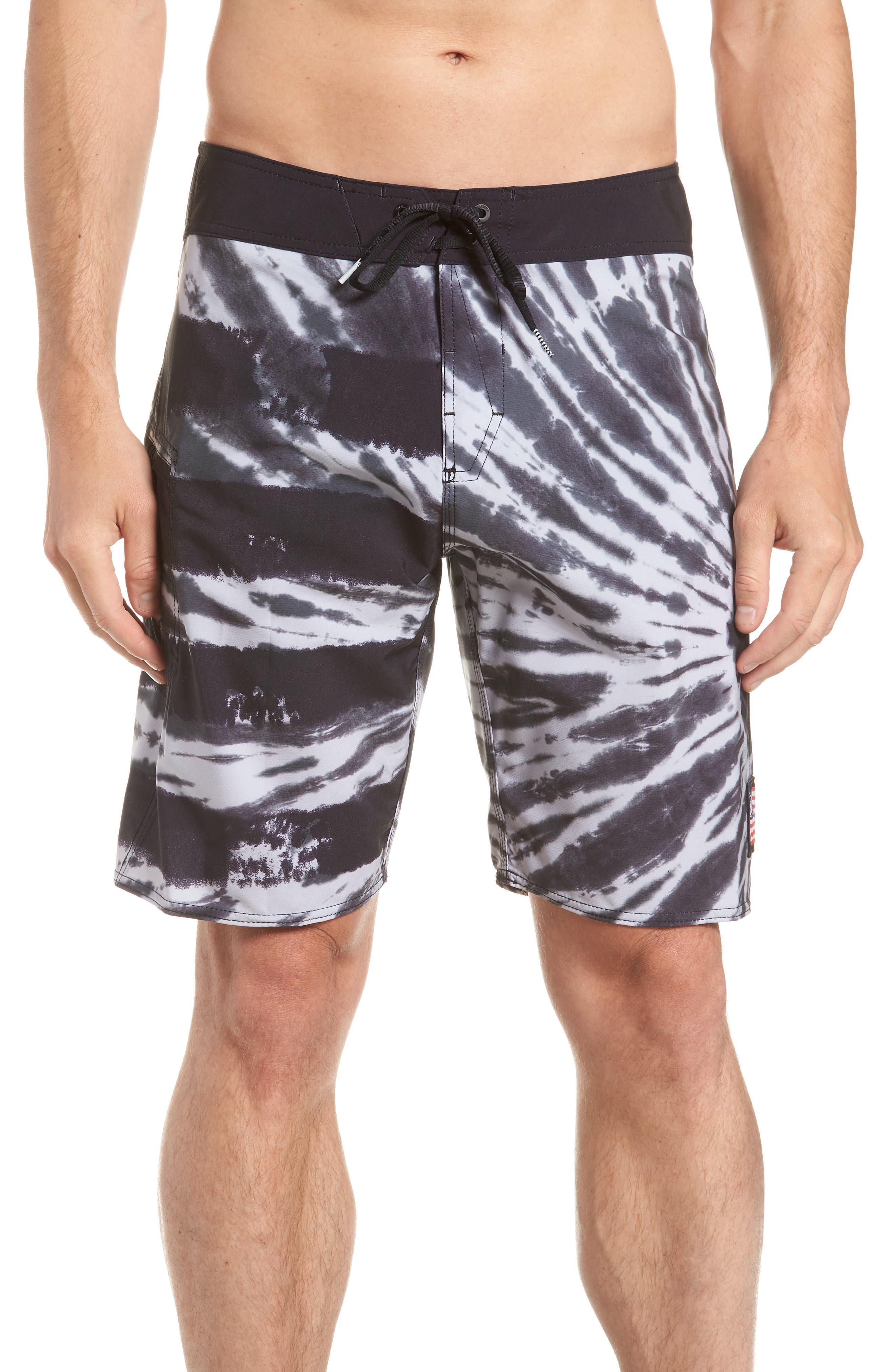 Peace Stoney Board Shorts,                             Main thumbnail 1, color,                             Grey