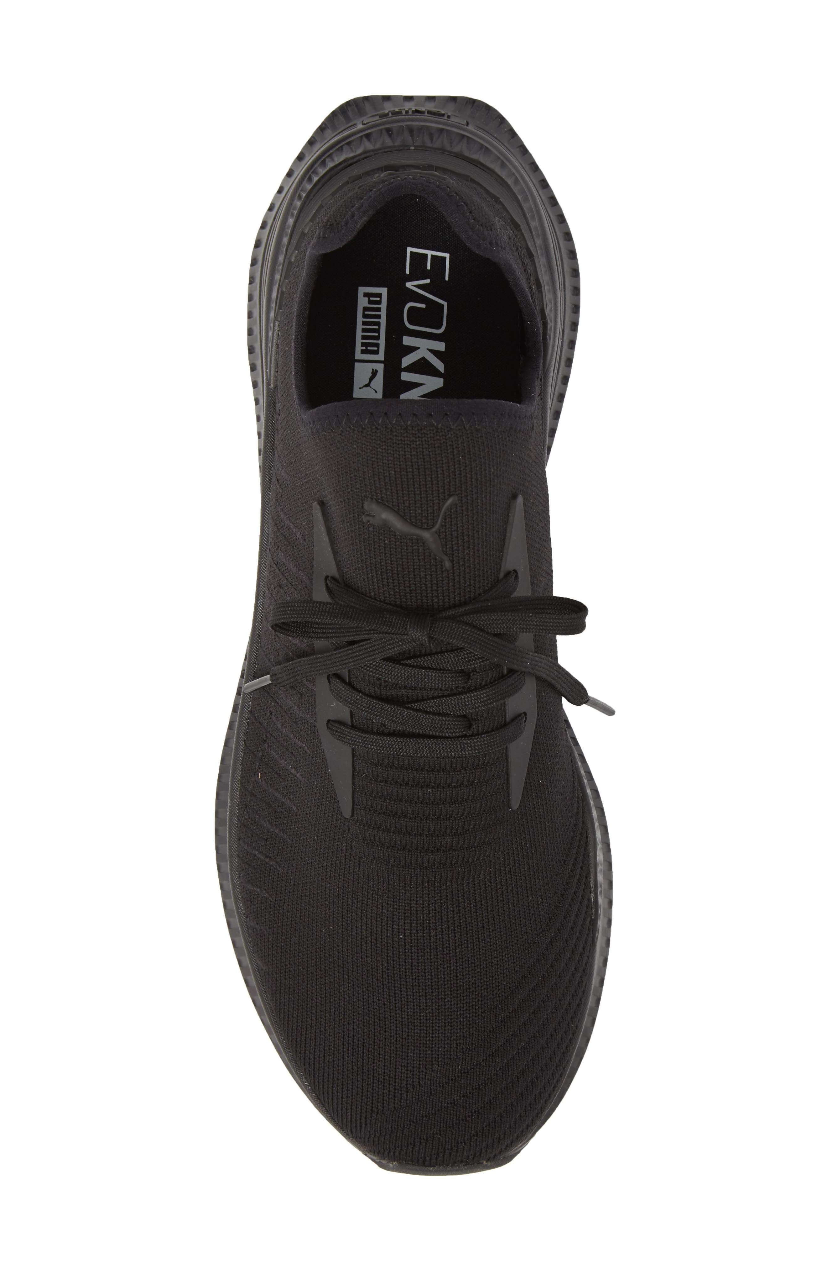AVID evoKNIT Sneaker,                             Alternate thumbnail 5, color,                             Black/ Black