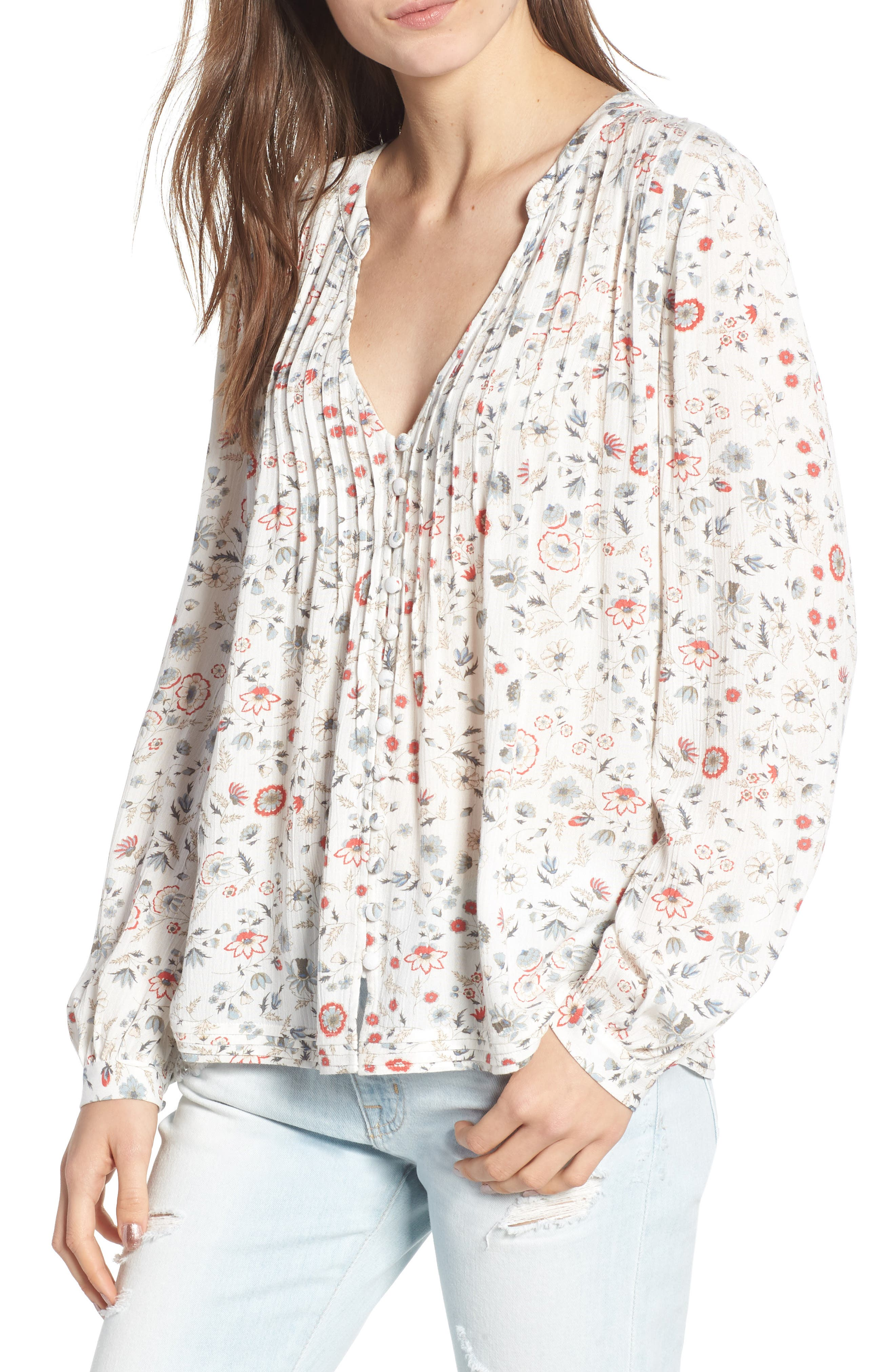 SIA FLORAL PLUNGE TOP