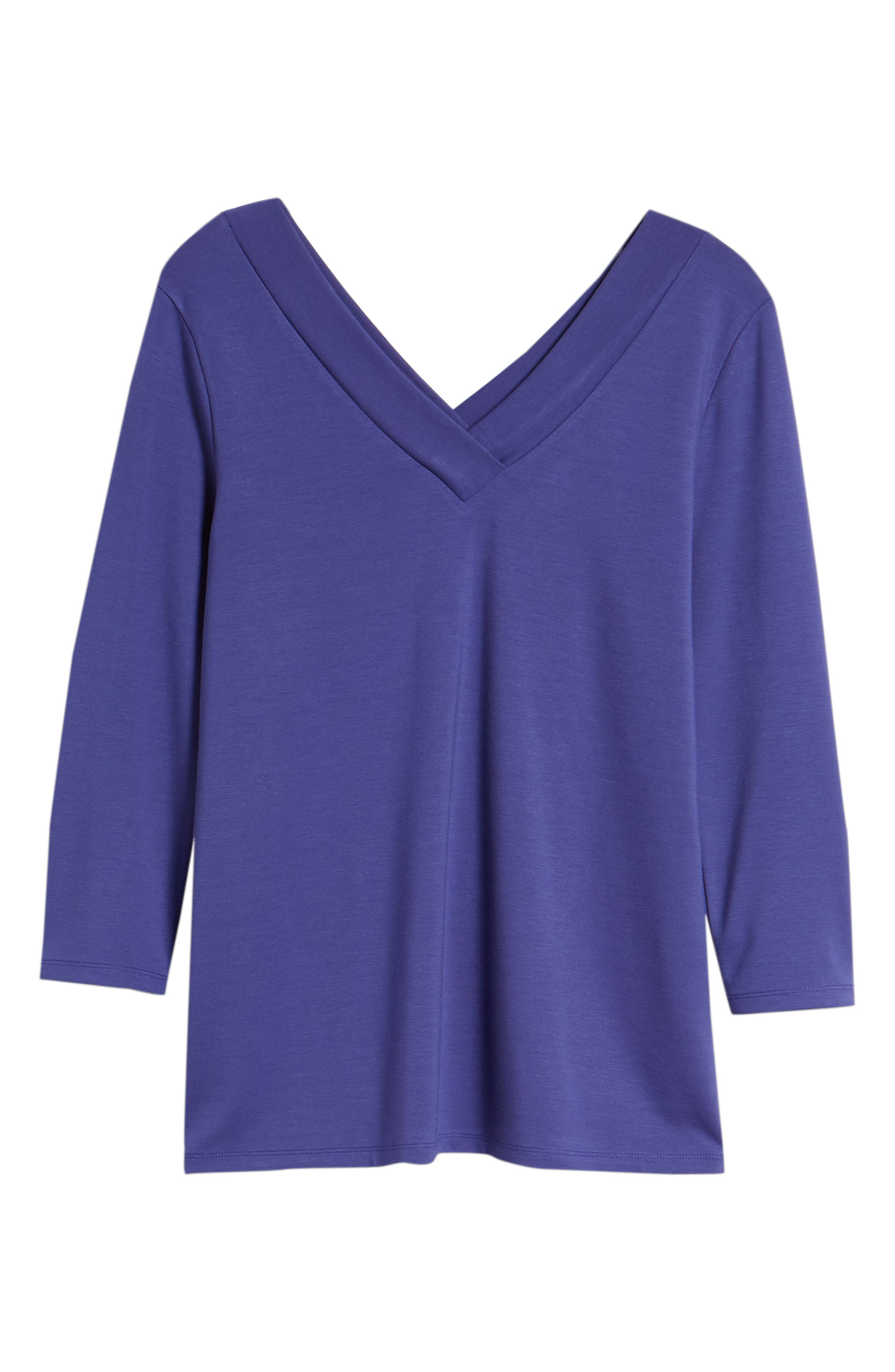 V-Neck Tee,                             Alternate thumbnail 7, color,                             Purple Orient