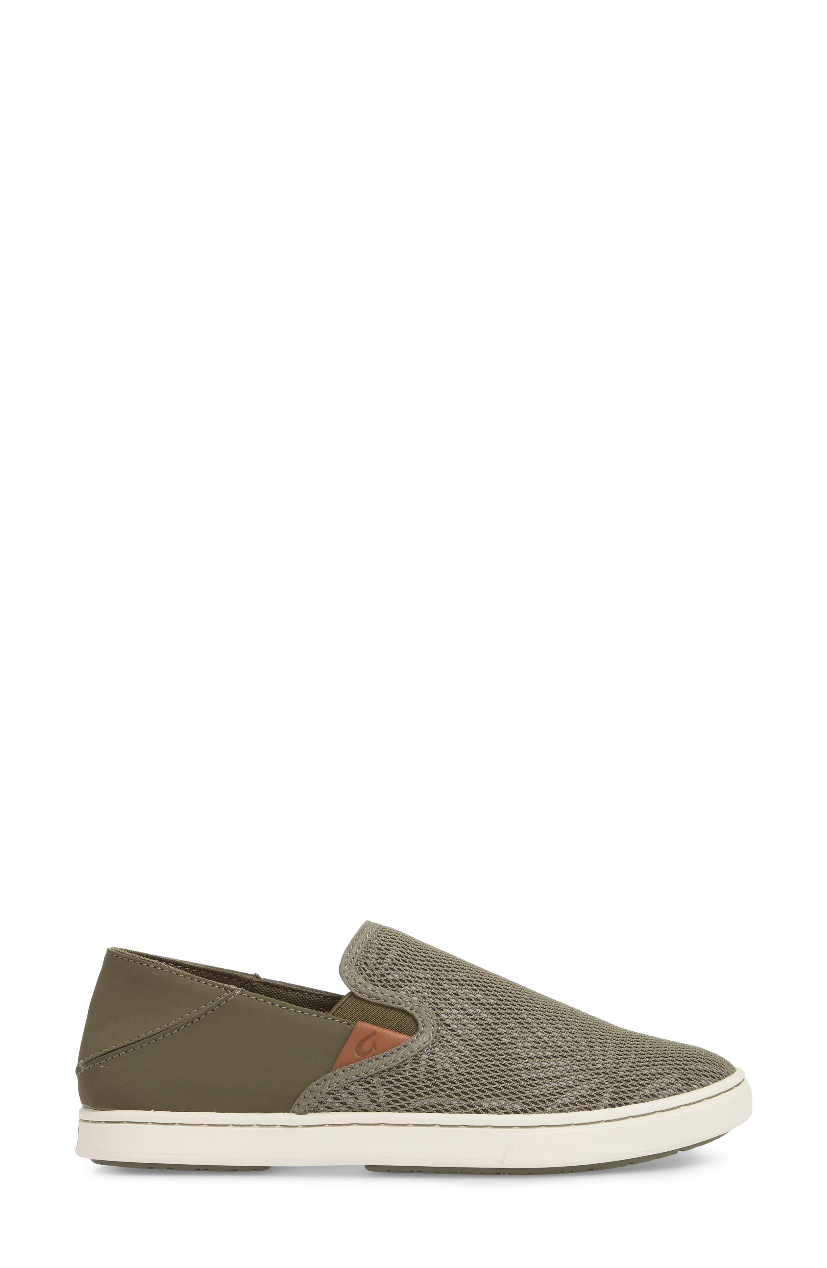 'Pehuea' Slip-On Sneaker,                             Alternate thumbnail 3, color,                             Dusty Olive/ Palm Fabric
