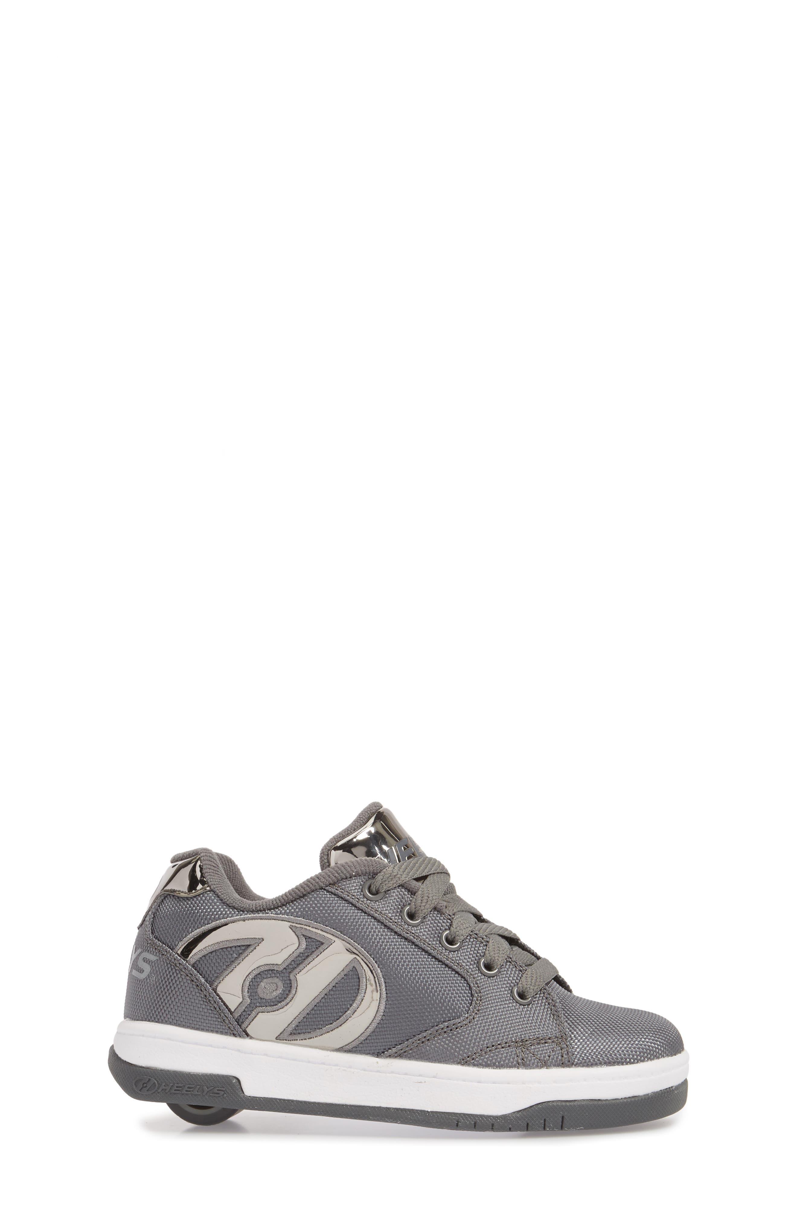 Heels Propel Ballistic Sneaker,                             Alternate thumbnail 3, color,                             Charcoal/ Pewter