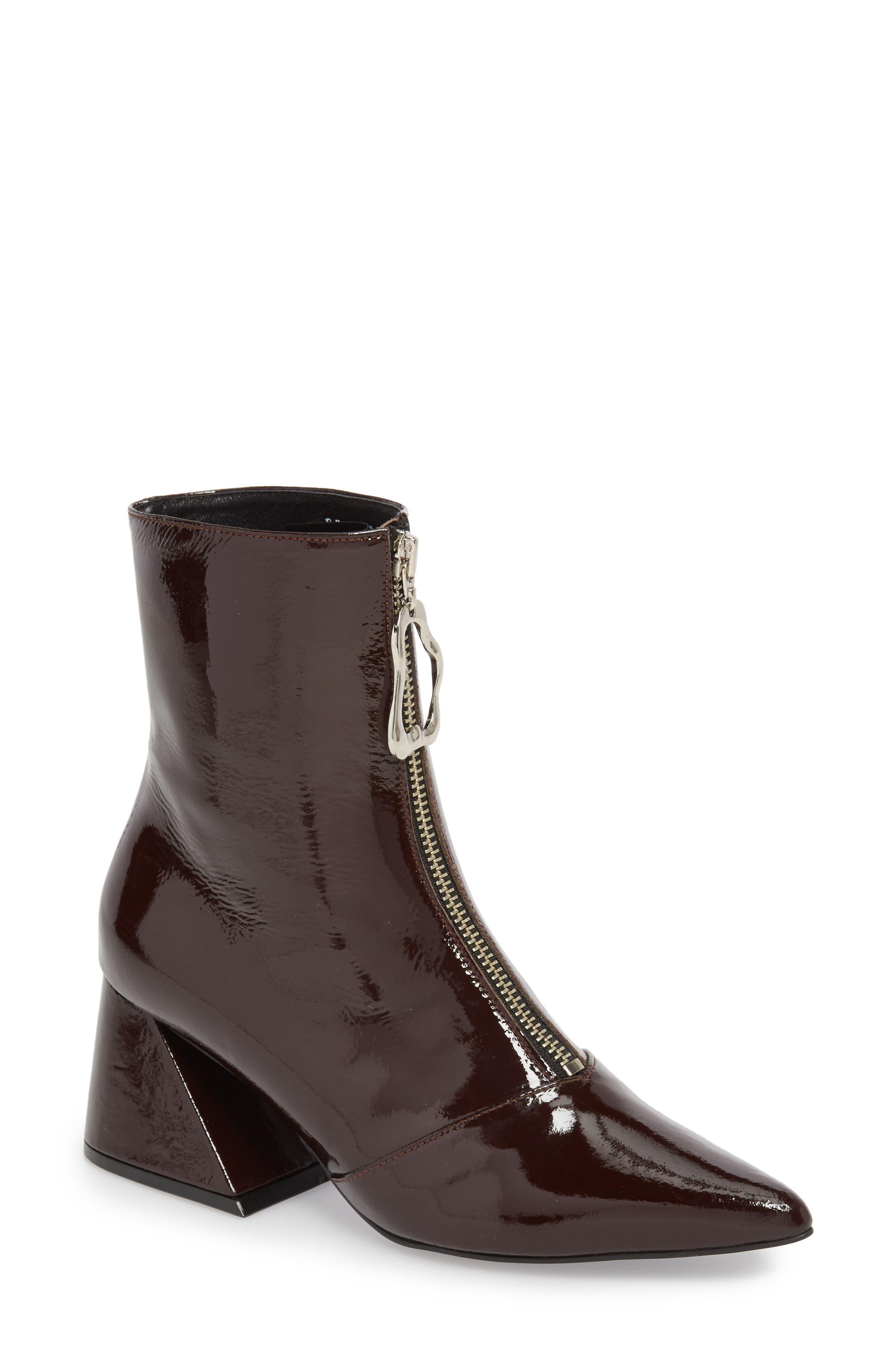 Block Heel Bootie,                         Main,                         color, Burgundy