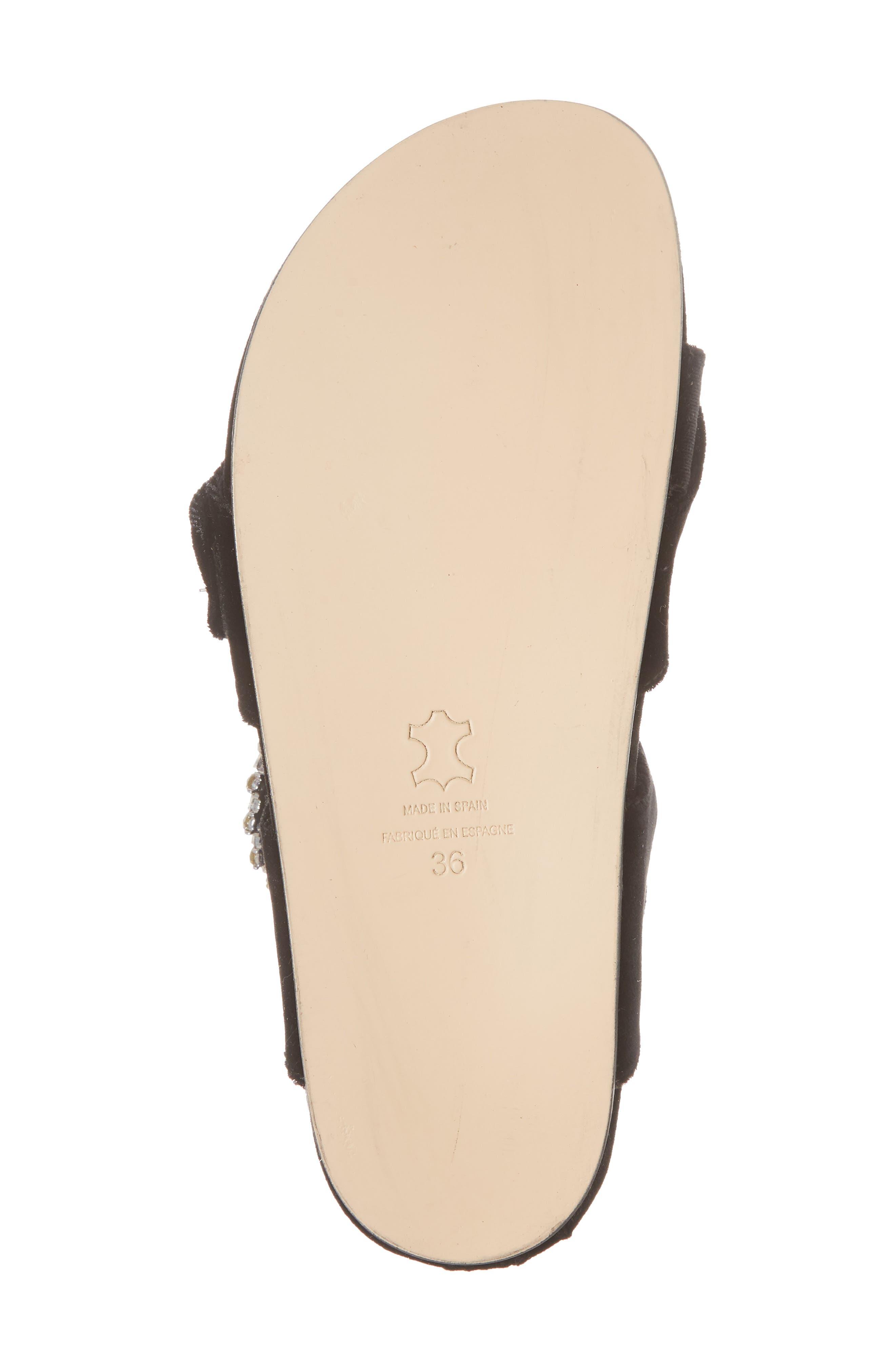 Maui2 Sandal,                             Alternate thumbnail 6, color,                             Black Velvet/ White