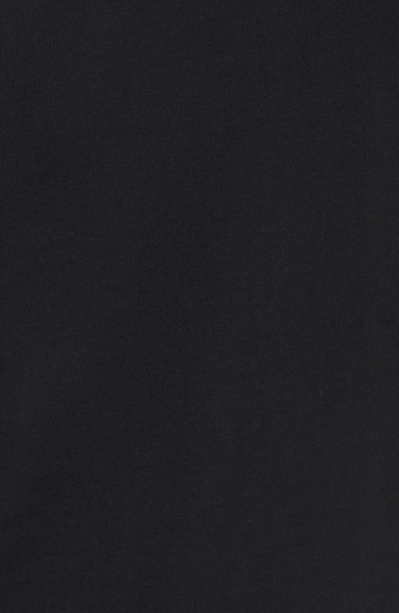 Jordan Sportswear Graphic Shirt,                             Alternate thumbnail 5, color,                             Black/ White