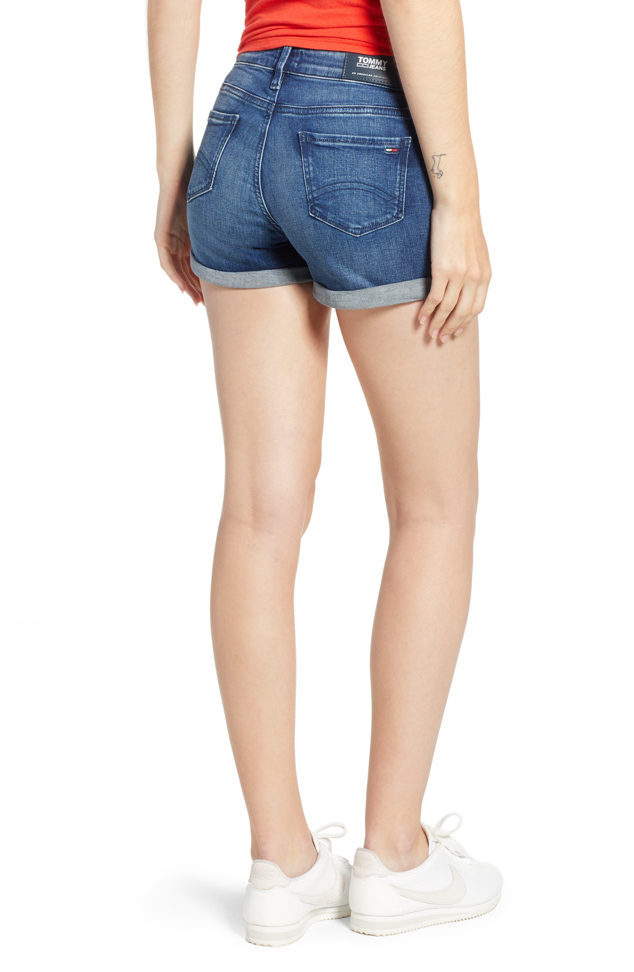 TJW Denim Shorts,                             Alternate thumbnail 2, color,                             Newport Blue