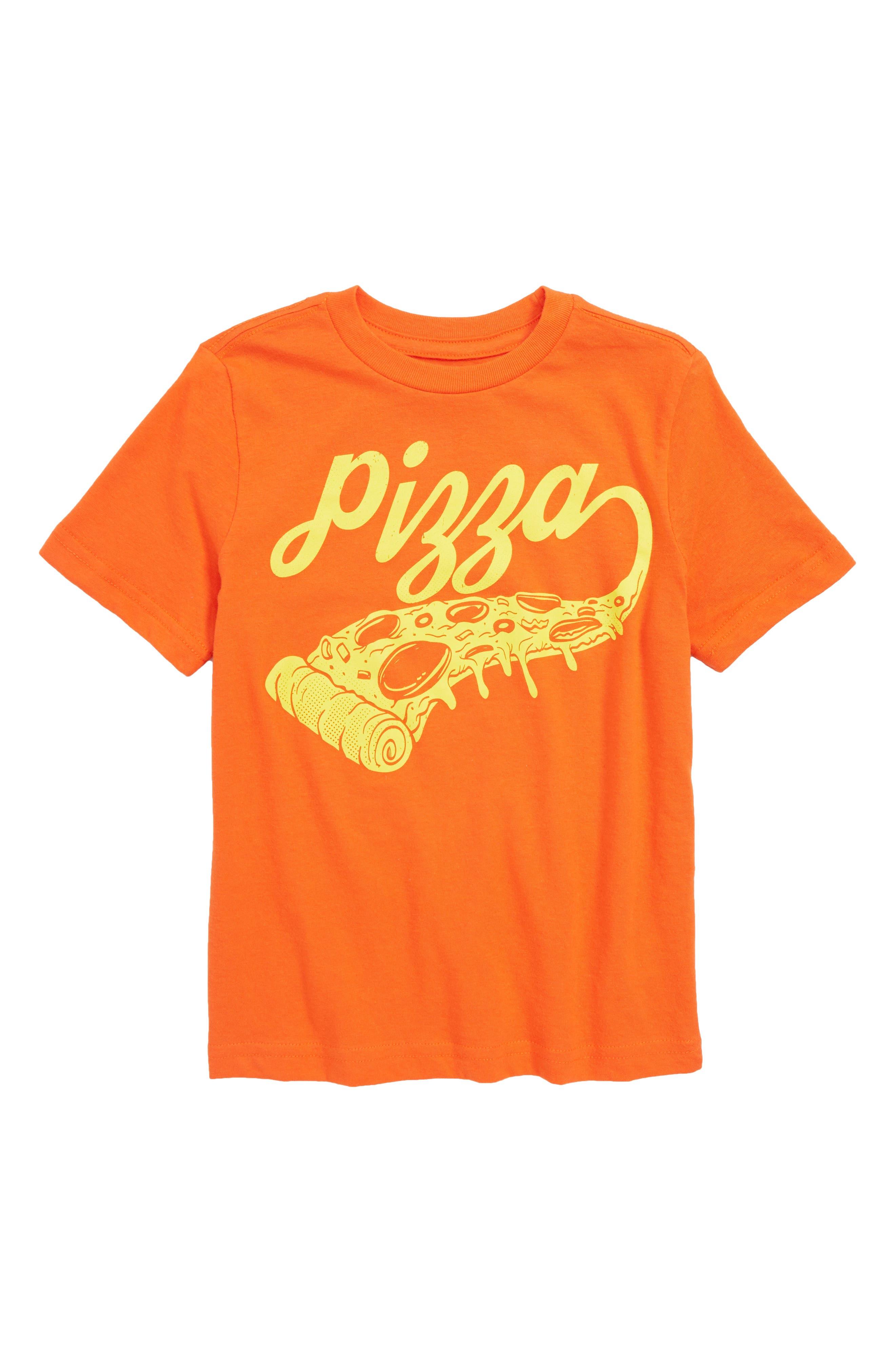 Graphic T-Shirt,                             Main thumbnail 1, color,                             Orange Cherry Pizza