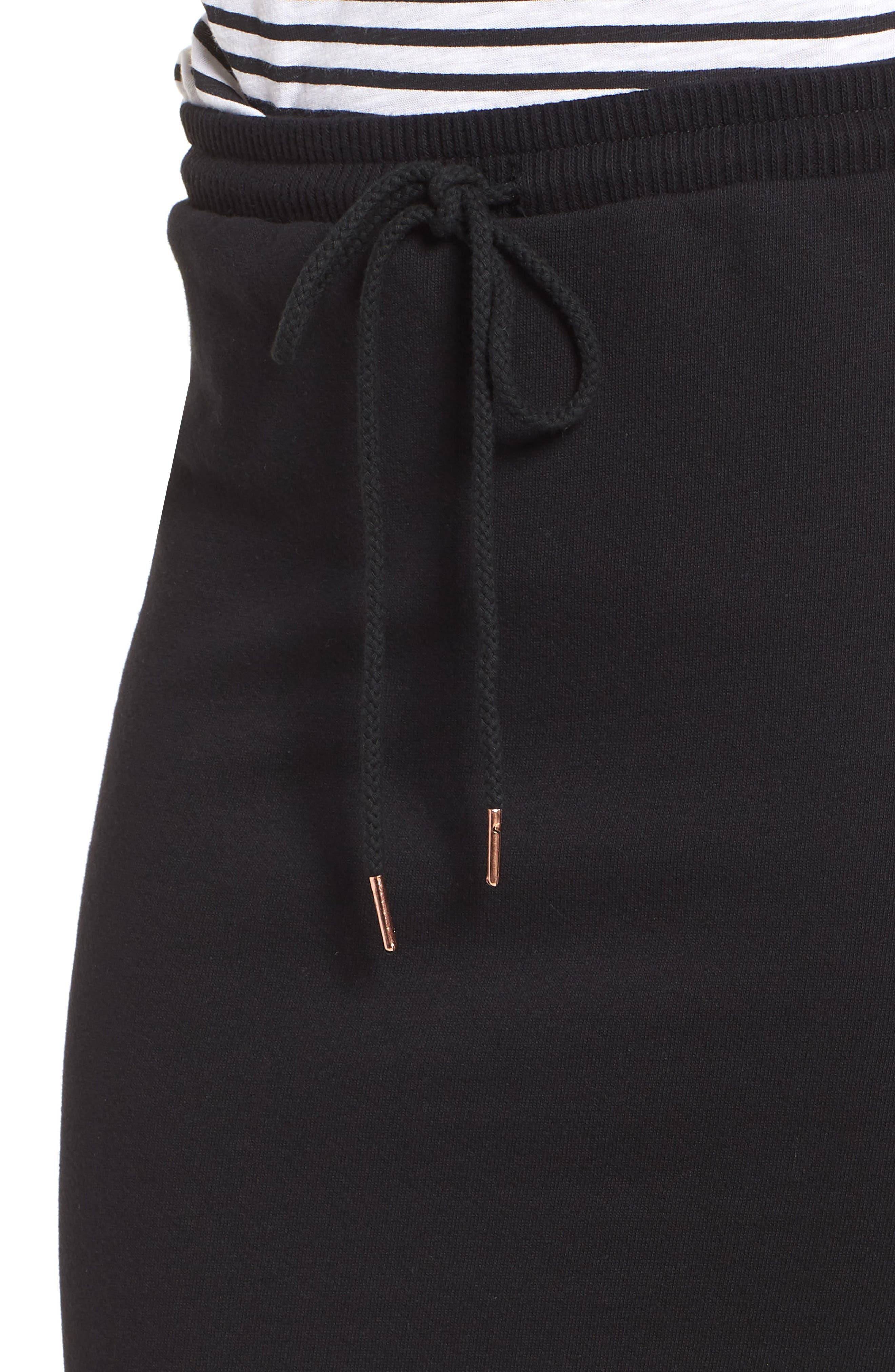 Off-Duty Drawstring Skirt,                             Alternate thumbnail 4, color,                             Black