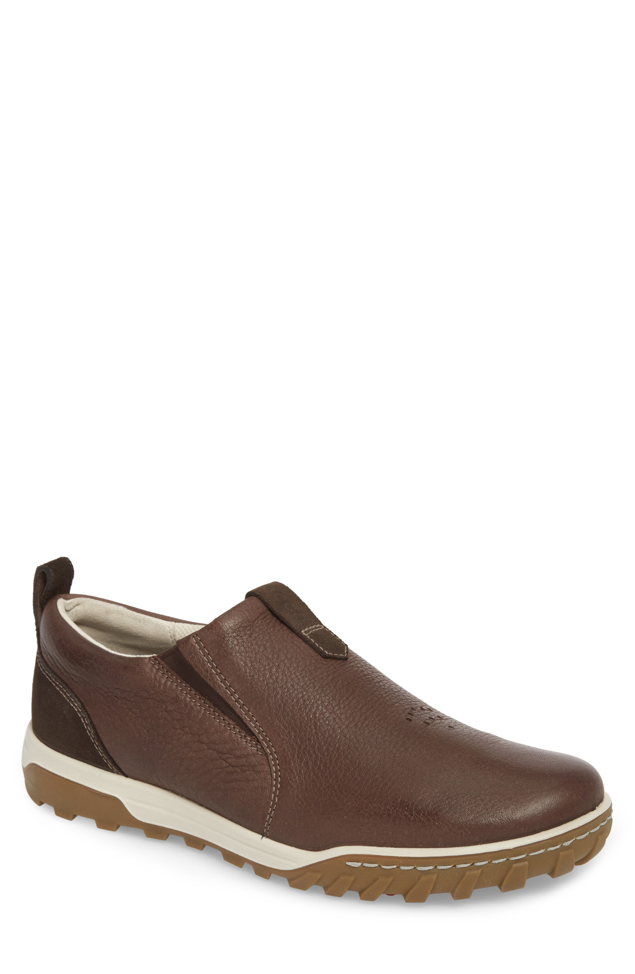 Urban Lifestyle Slip-On Sneaker,                             Main thumbnail 1, color,                             Coffee Leather
