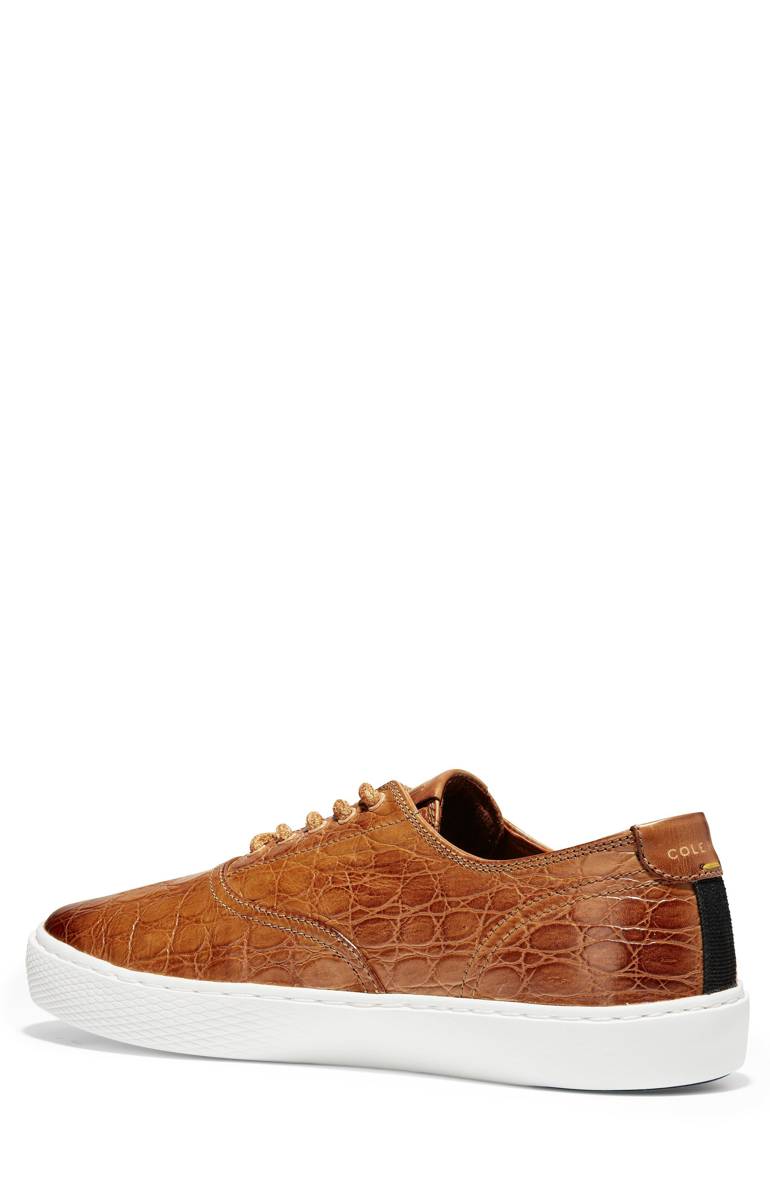 GrandPro Deck Low Top Sneaker,                             Alternate thumbnail 2, color,                             Brown/ White Leather