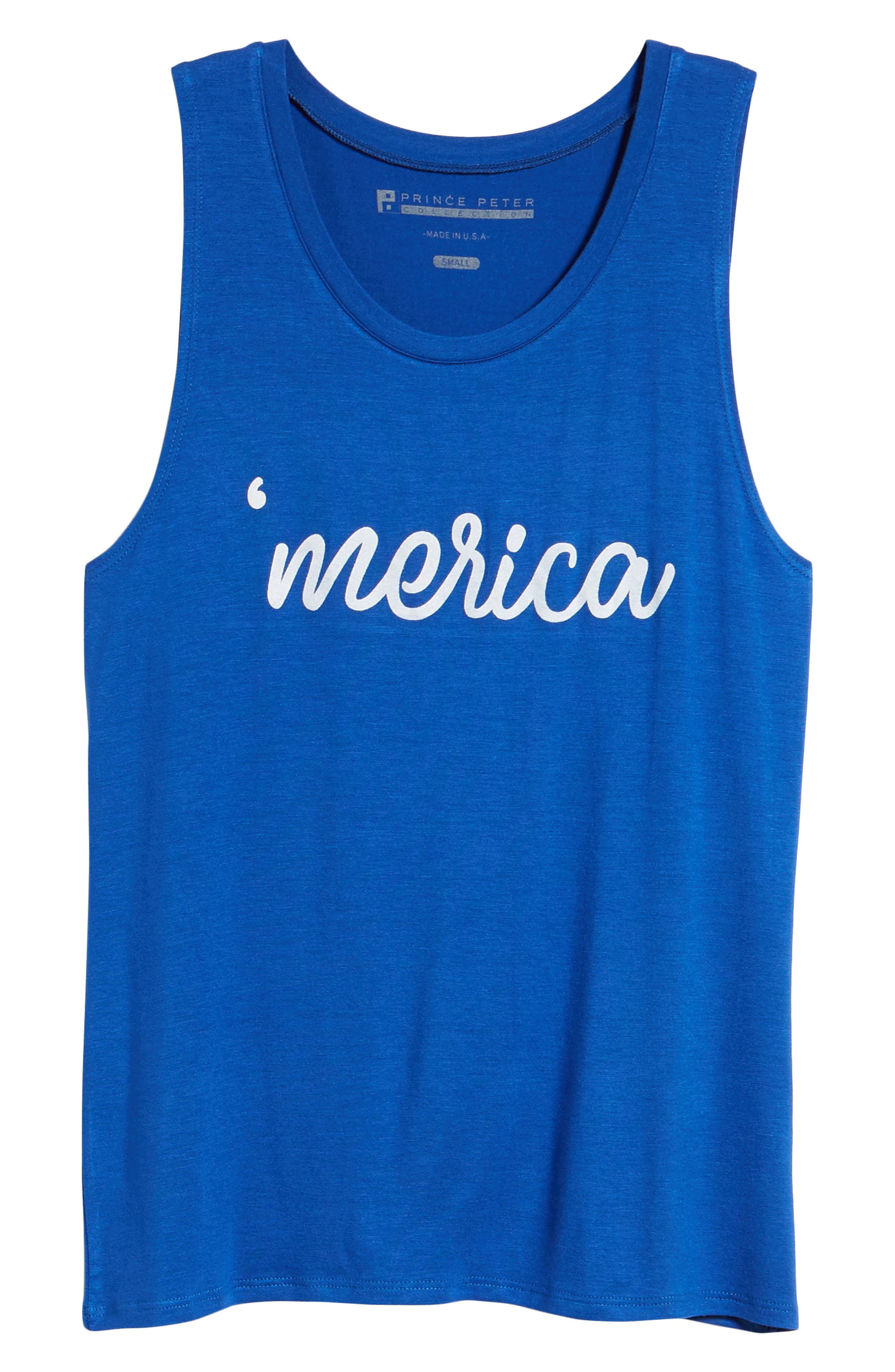 'Merica Tank,                             Alternate thumbnail 6, color,                             Navy