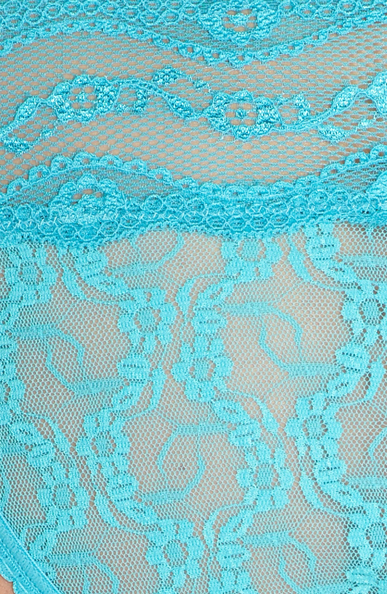 'Lace Kiss' Bikini,                             Alternate thumbnail 8, color,                             Peacock Blue